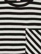 پیراهن ویسکوز دخترانه - بلوزو - راه راه - 3