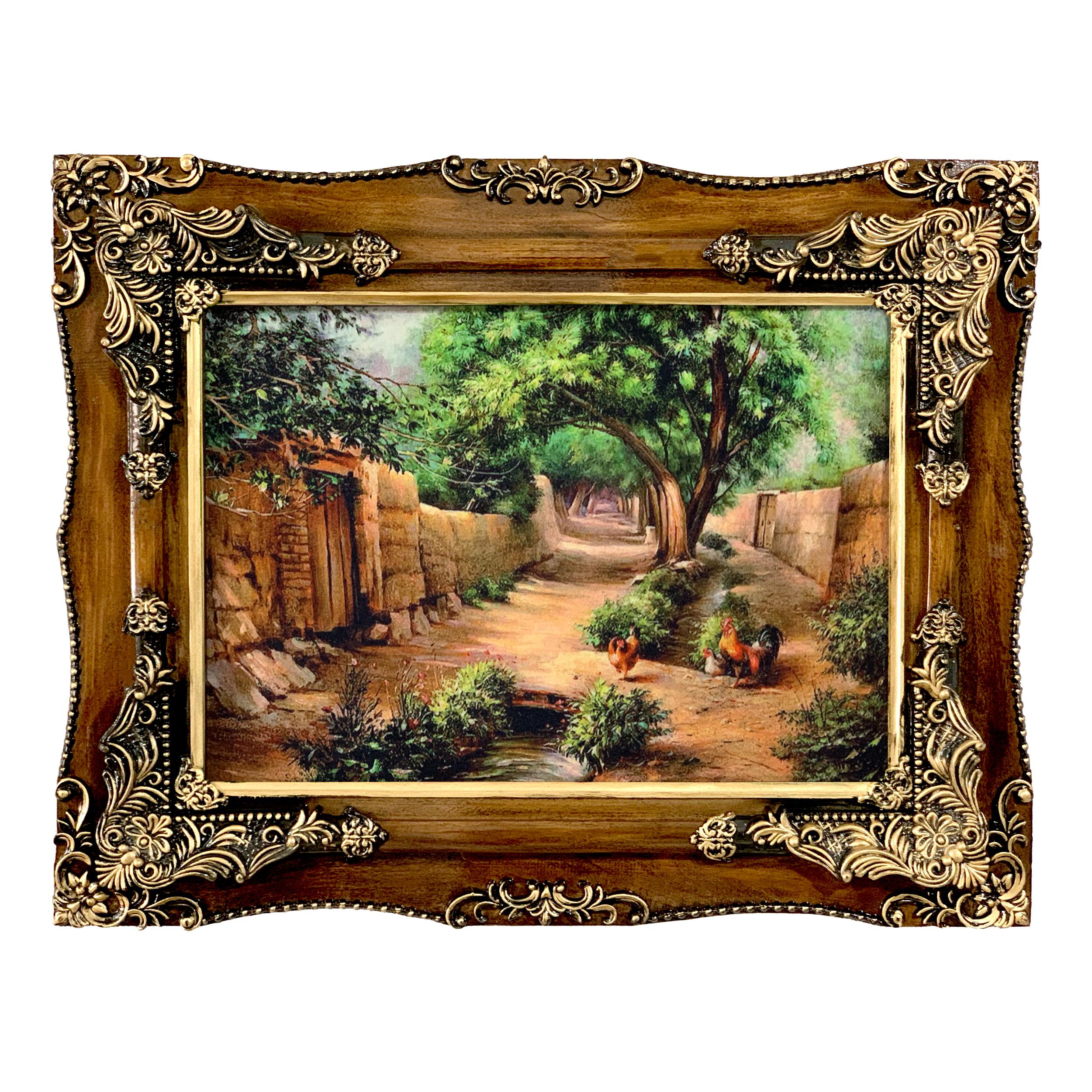 تابلو فرش ماشینی طرح کوچه باغ کد ۷۰۹۷