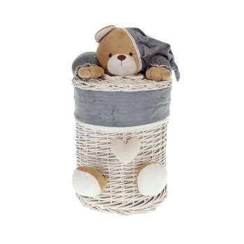سبد رخت چرک کودک طرح خرس نانان کد SLN-S