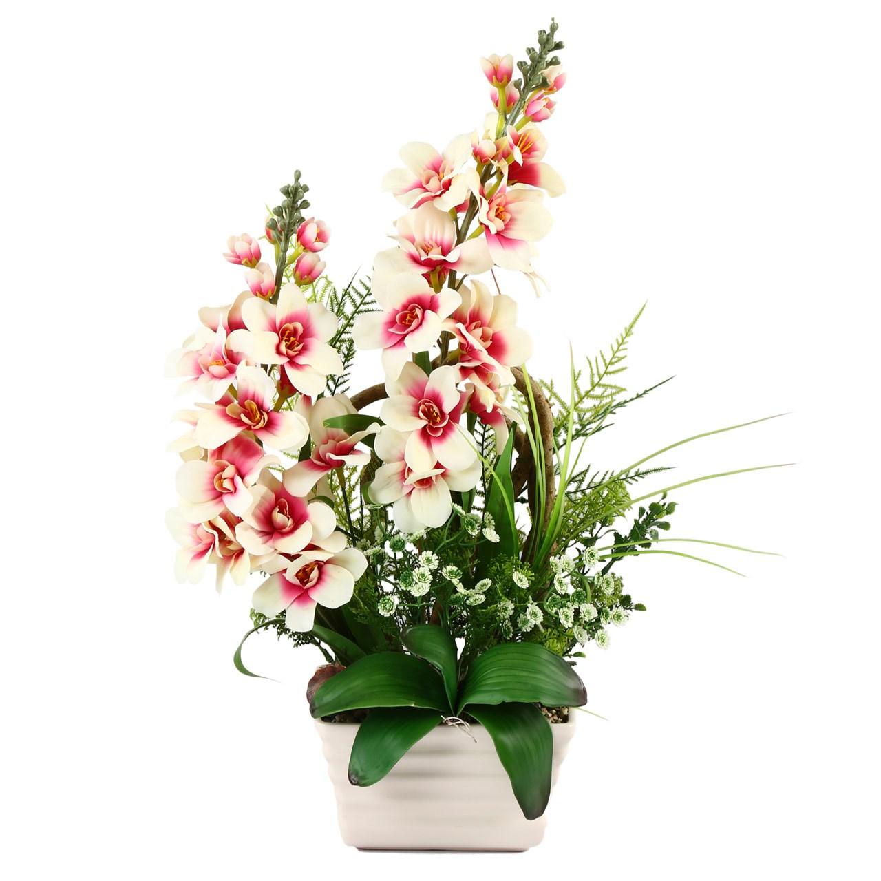 گلدان به همراه گل مصنوعی هومز مدل 31699