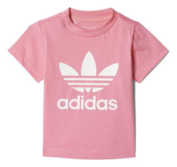 تی شرت نخی یقه گرد دخترانه Trefoil - آدیداس