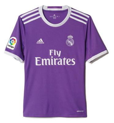 تصویر تی شرت ورزشی آستین کوتاه پسرانه Real Madrid Away Replica – آدیداس