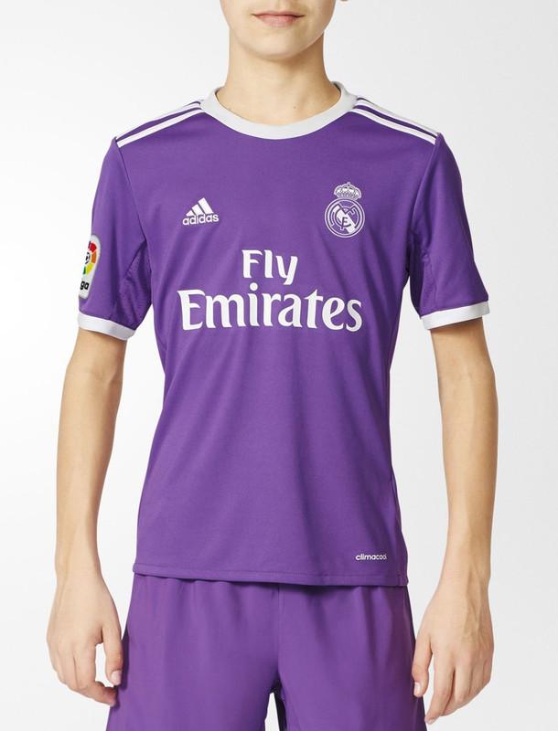 تی شرت ورزشی آستین کوتاه پسرانه Real Madrid Away Replica - آدیداس