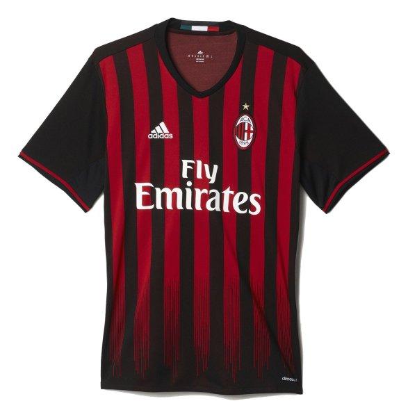 تی شرت ورزشی آستین کوتاه مردانه AC Milan Home Replica - آدیداس