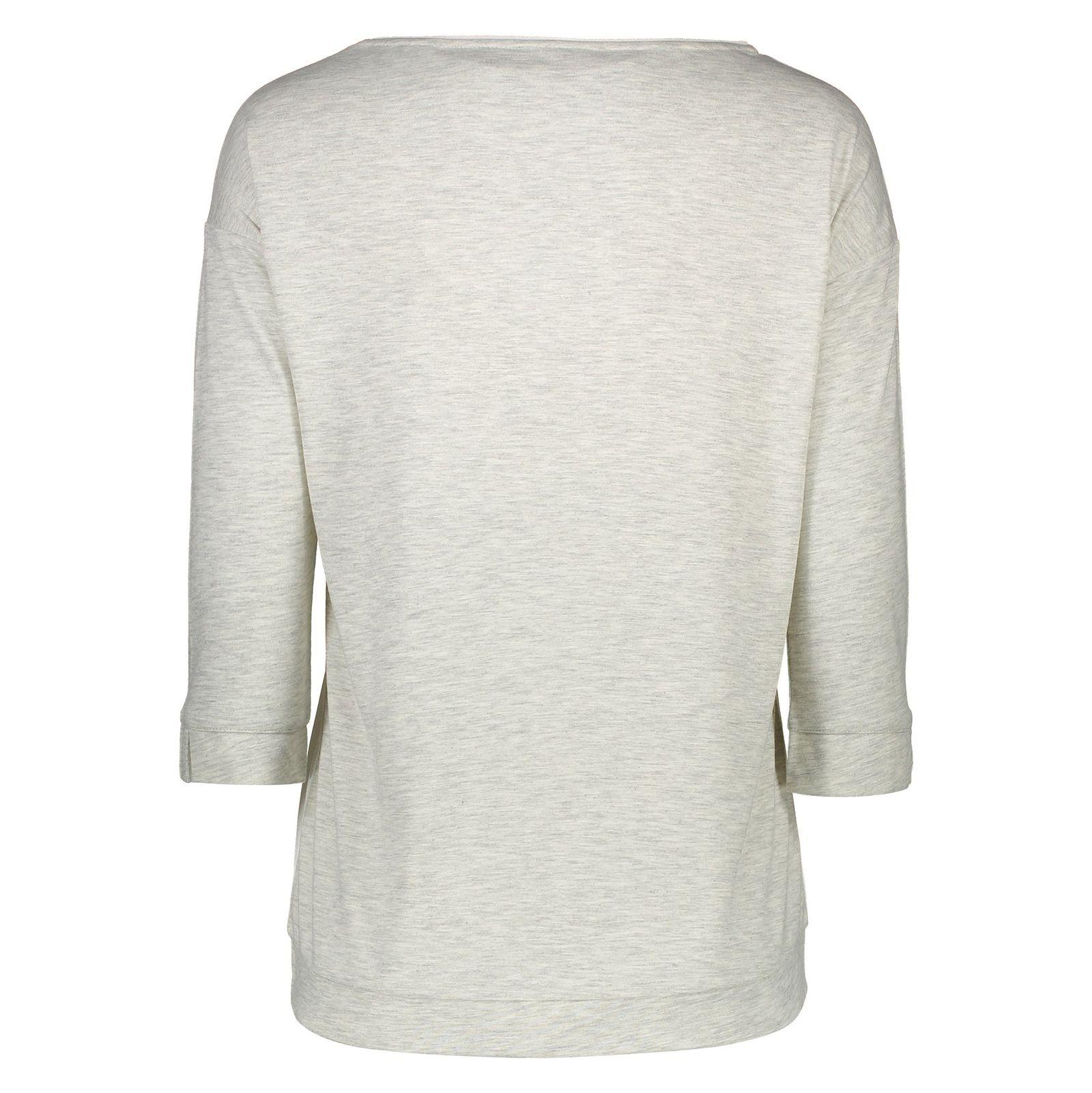 تی شرت یقه گرد زنانه - اس.اولیور - طوسي روشن - 2