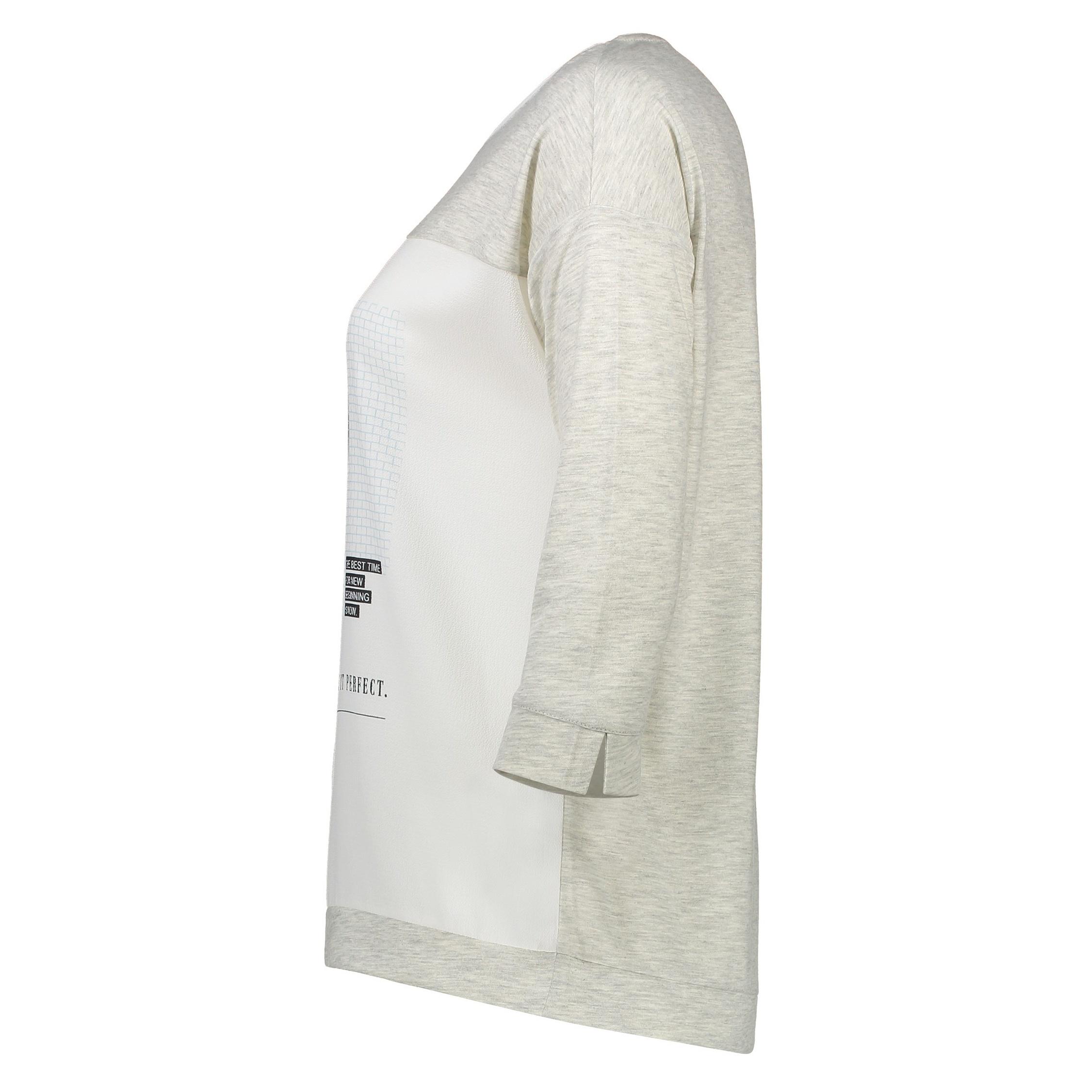 تی شرت یقه گرد زنانه - اس.اولیور - طوسي روشن - 3
