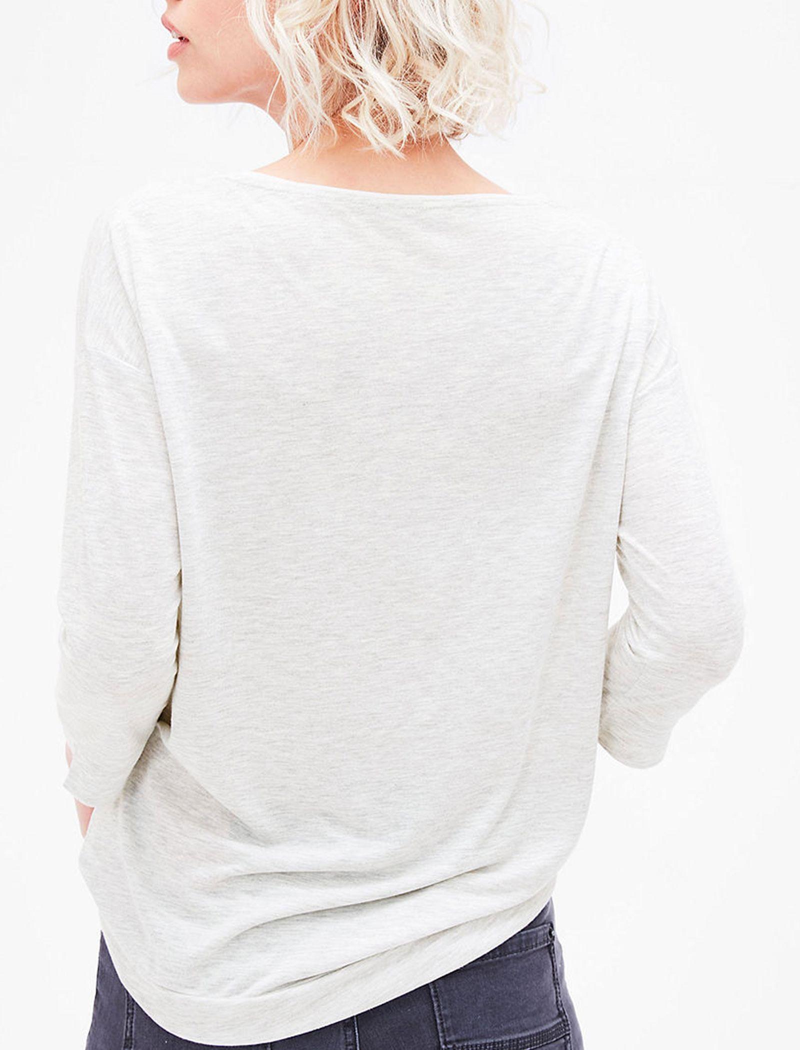 تی شرت یقه گرد زنانه - اس.اولیور - طوسي روشن - 5