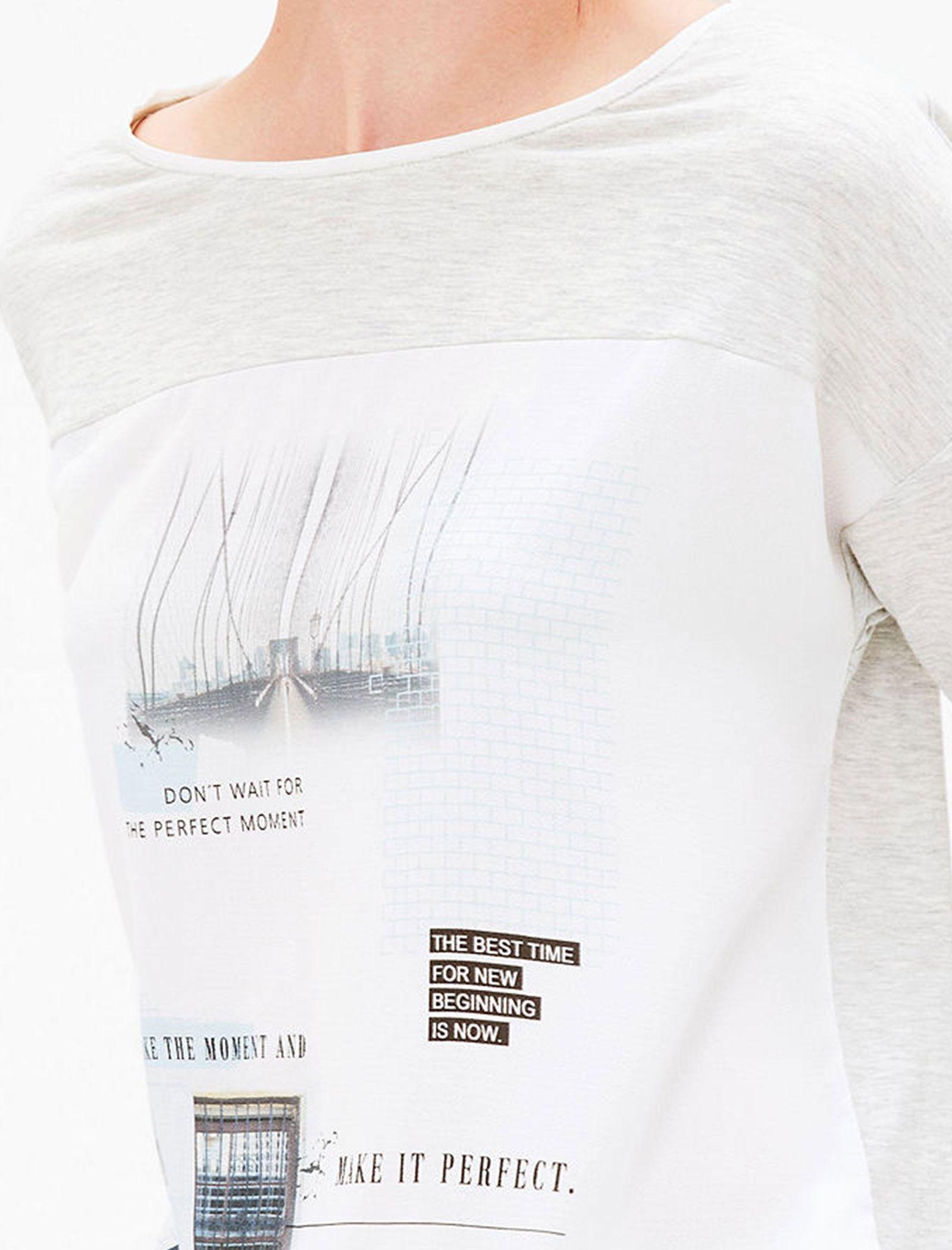 تی شرت یقه گرد زنانه - اس.اولیور - طوسي روشن - 7