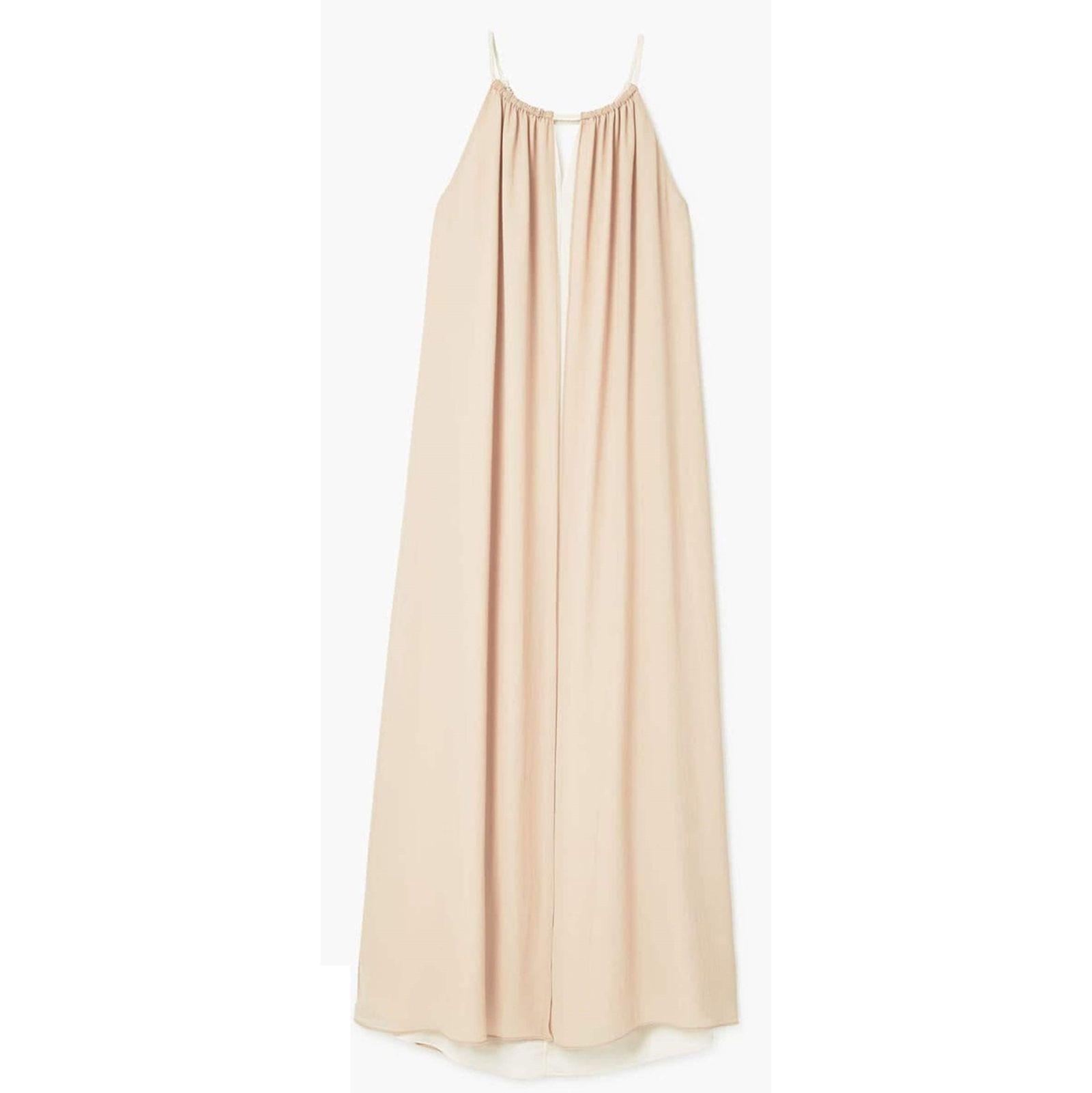 پیراهن بلند زنانه - مانگو - کرم  - 1