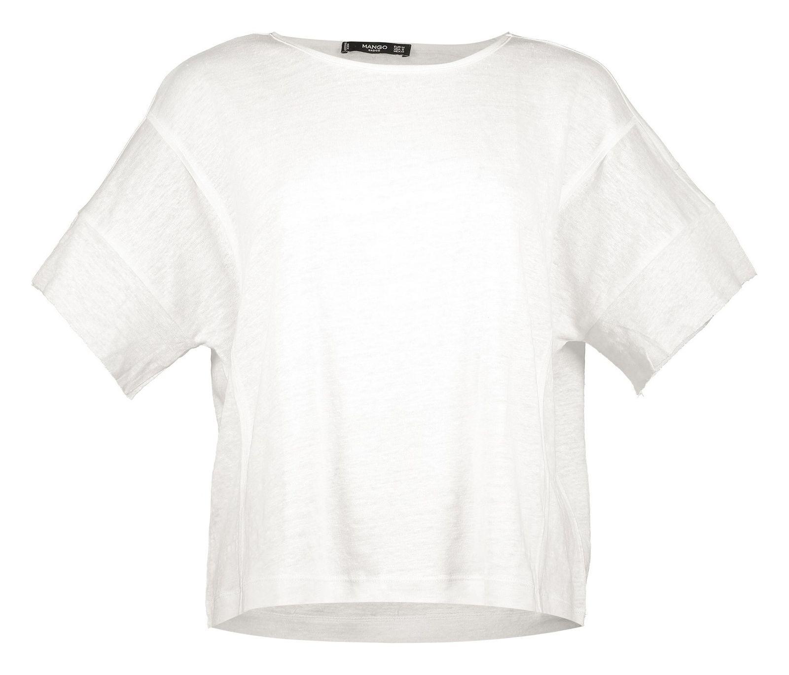 تی شرت یقه گرد زنانه - مانگو - سفيد - 1