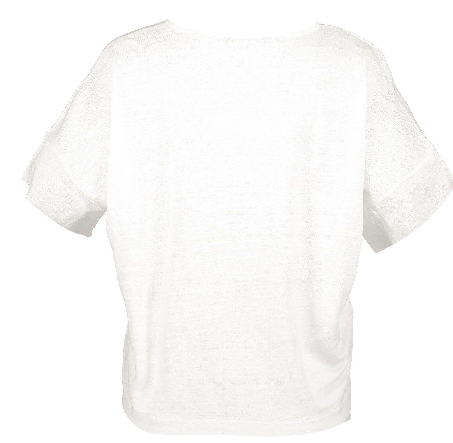 تی شرت یقه گرد زنانه - مانگو - سفيد - 2