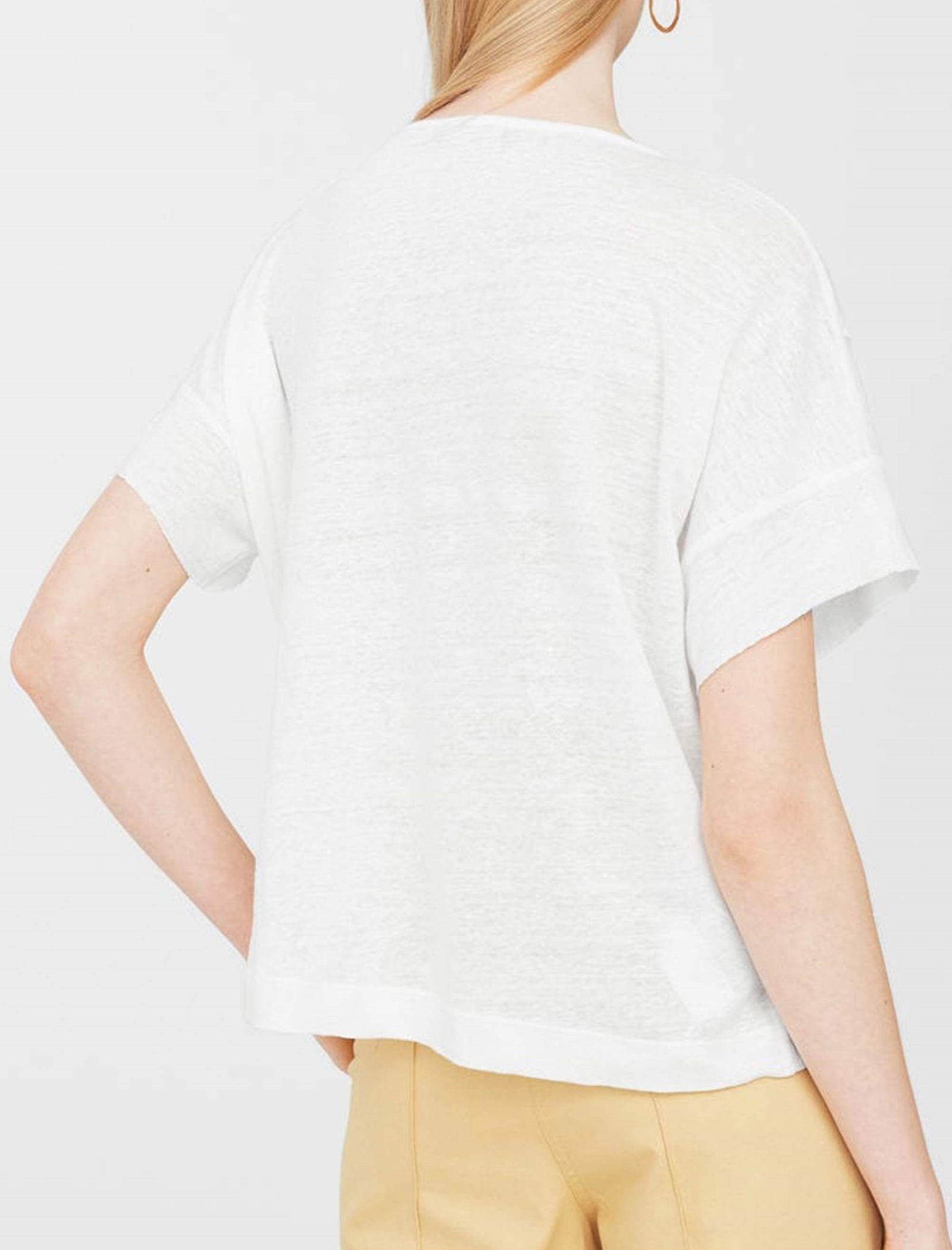 تی شرت یقه گرد زنانه - مانگو - سفيد - 6