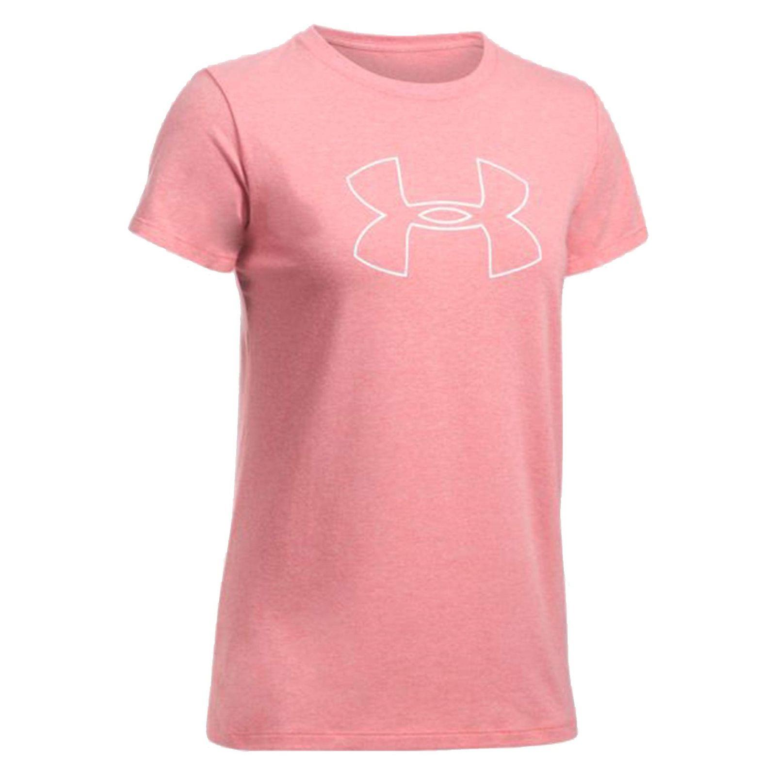 تی شرت نخی یقه گرد زنانه - آندر آرمور - صورتي - 1