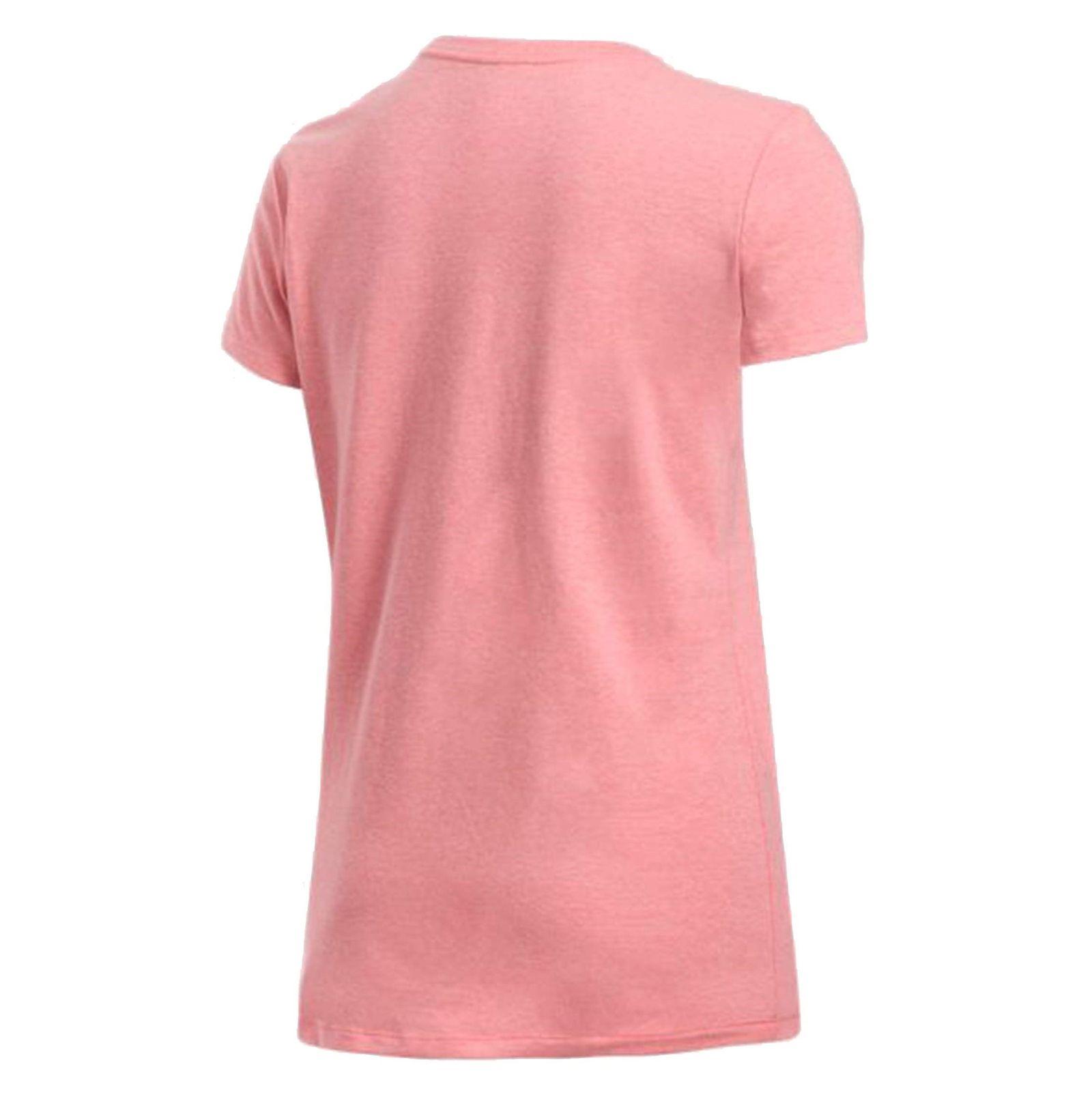 تی شرت نخی یقه گرد زنانه - آندر آرمور - صورتي - 2