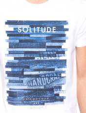 تی شرت نخی یقه گرد مردانه - ال سی وایکیکی - سفيد     - 7