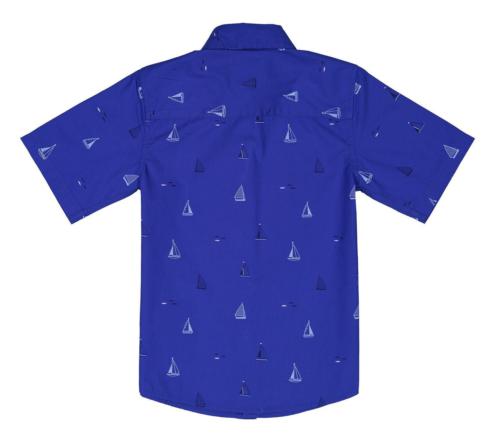 پیراهن نخی پسرانه - جی بای جسپرکنران - آبي  - 2