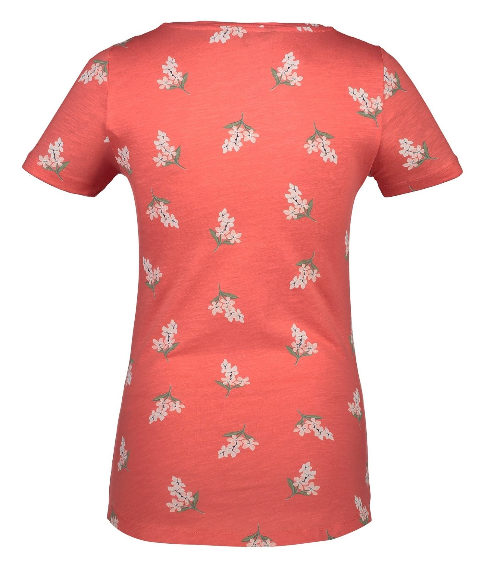 تی شرت نخی یقه گرد زنانه - کالکشن - نارنجي - 5
