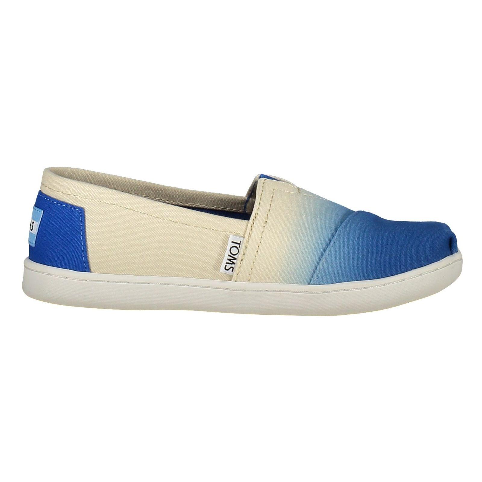 کفش راحتی نخی بچگانه - تامز - سفيد آبي - 1