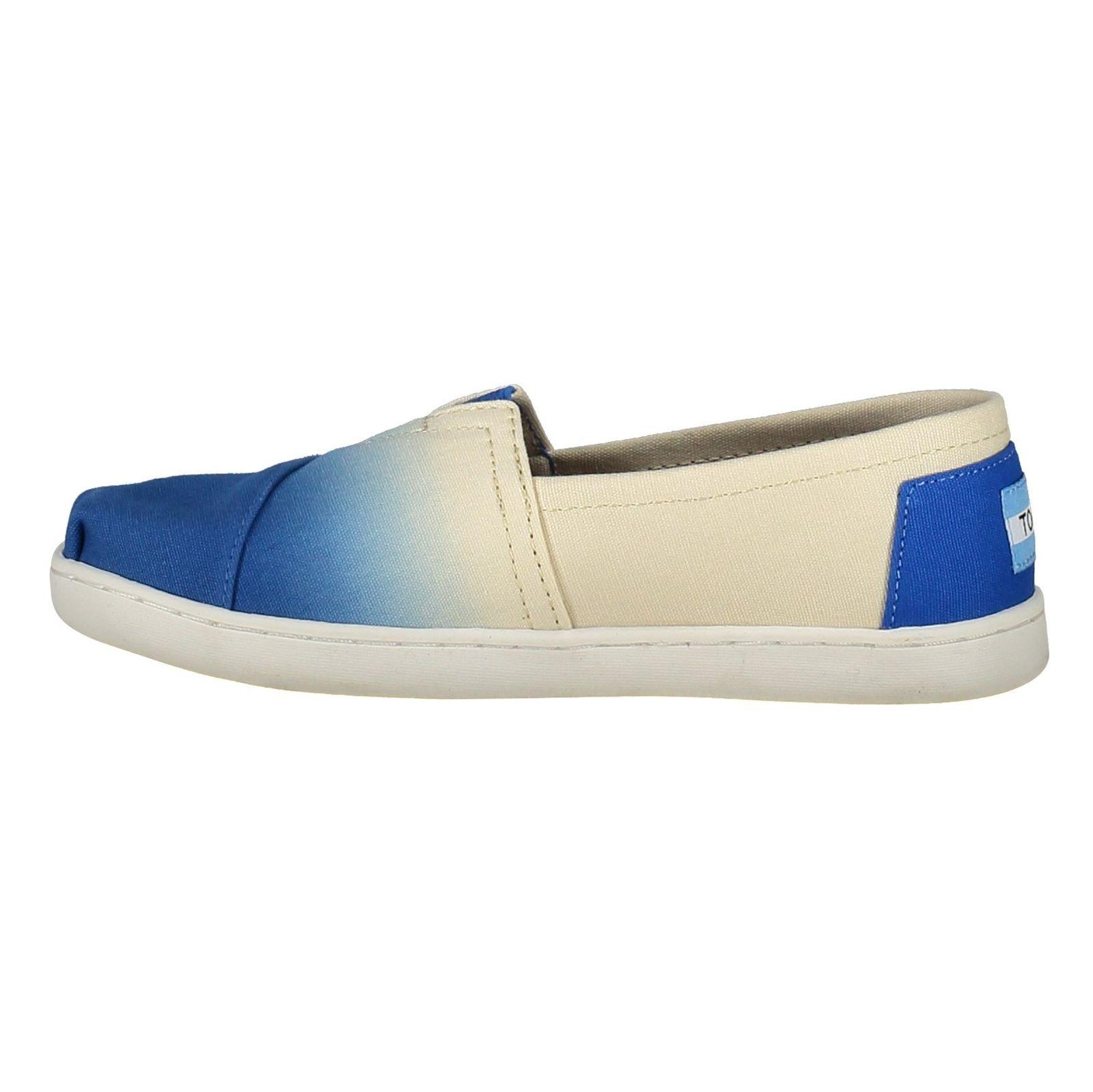 کفش راحتی نخی بچگانه - تامز - سفيد آبي - 3
