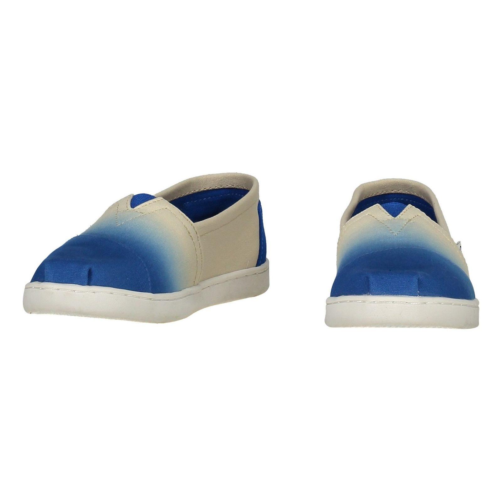 کفش راحتی نخی بچگانه - تامز - سفيد آبي - 4