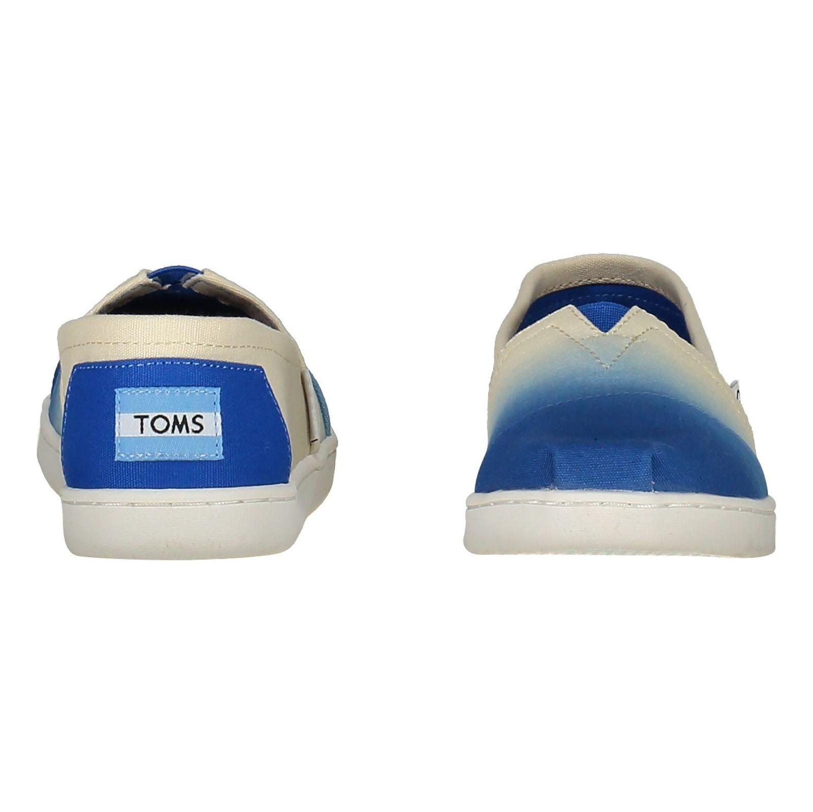 کفش راحتی نخی بچگانه - تامز - سفيد آبي - 5