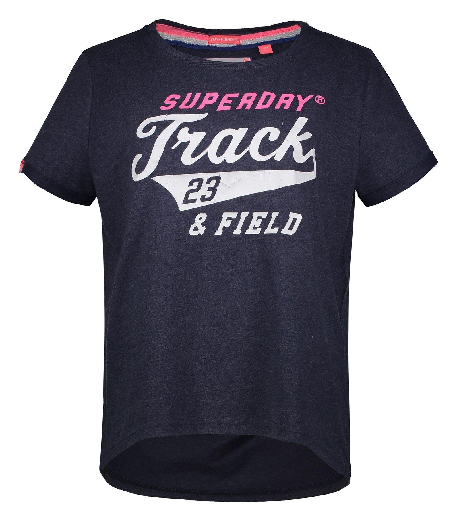 تی شرت نخی یقه گرد زنانه Trackster - سوپردرای - آبي نفتي - 1