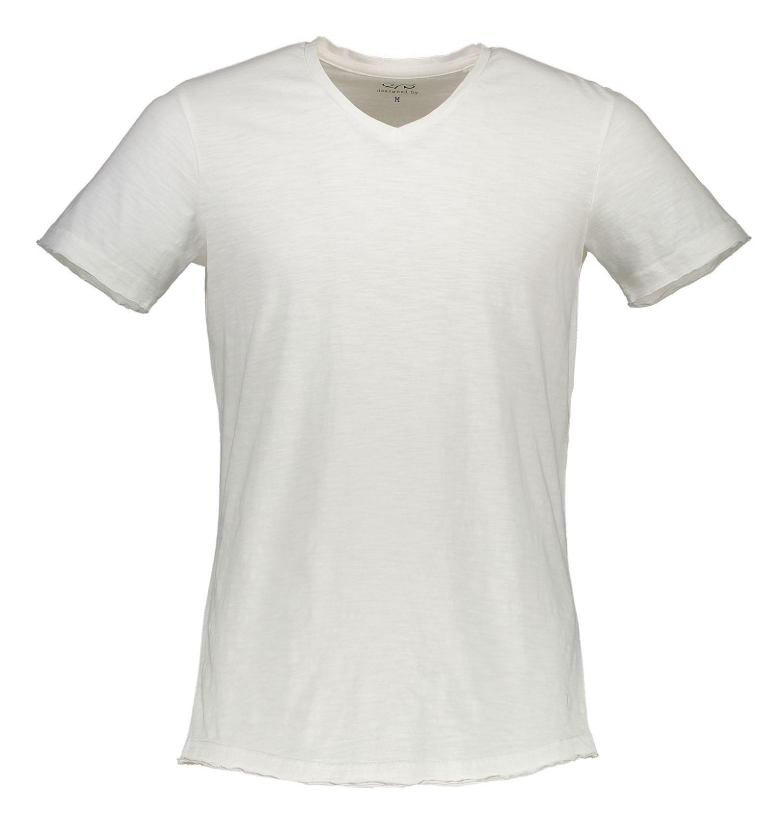 تی شرت نخی یقه هفت مردانه - اس.اولیور - سفيد - 1