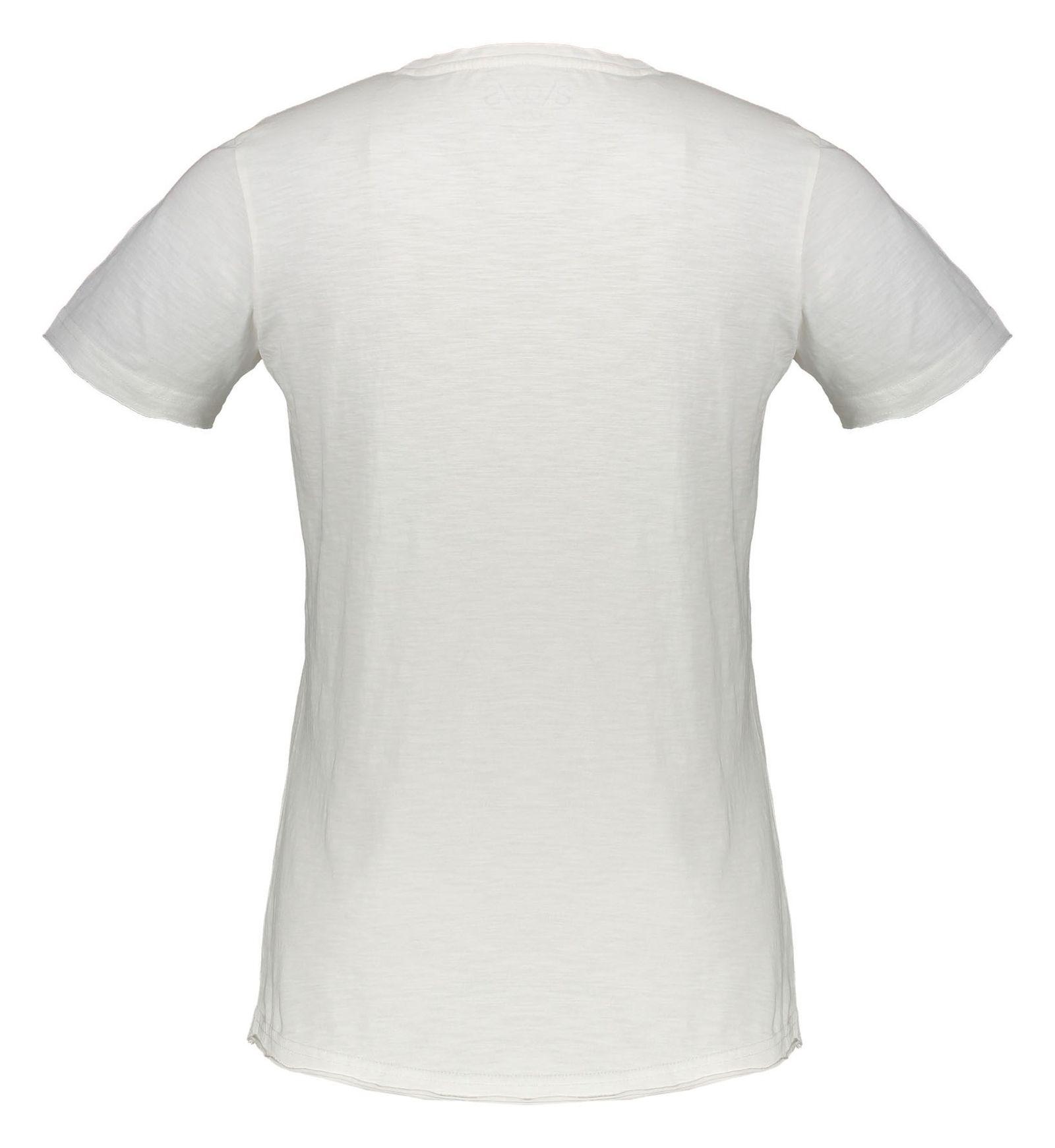 تی شرت نخی یقه هفت مردانه - اس.اولیور - سفيد - 2