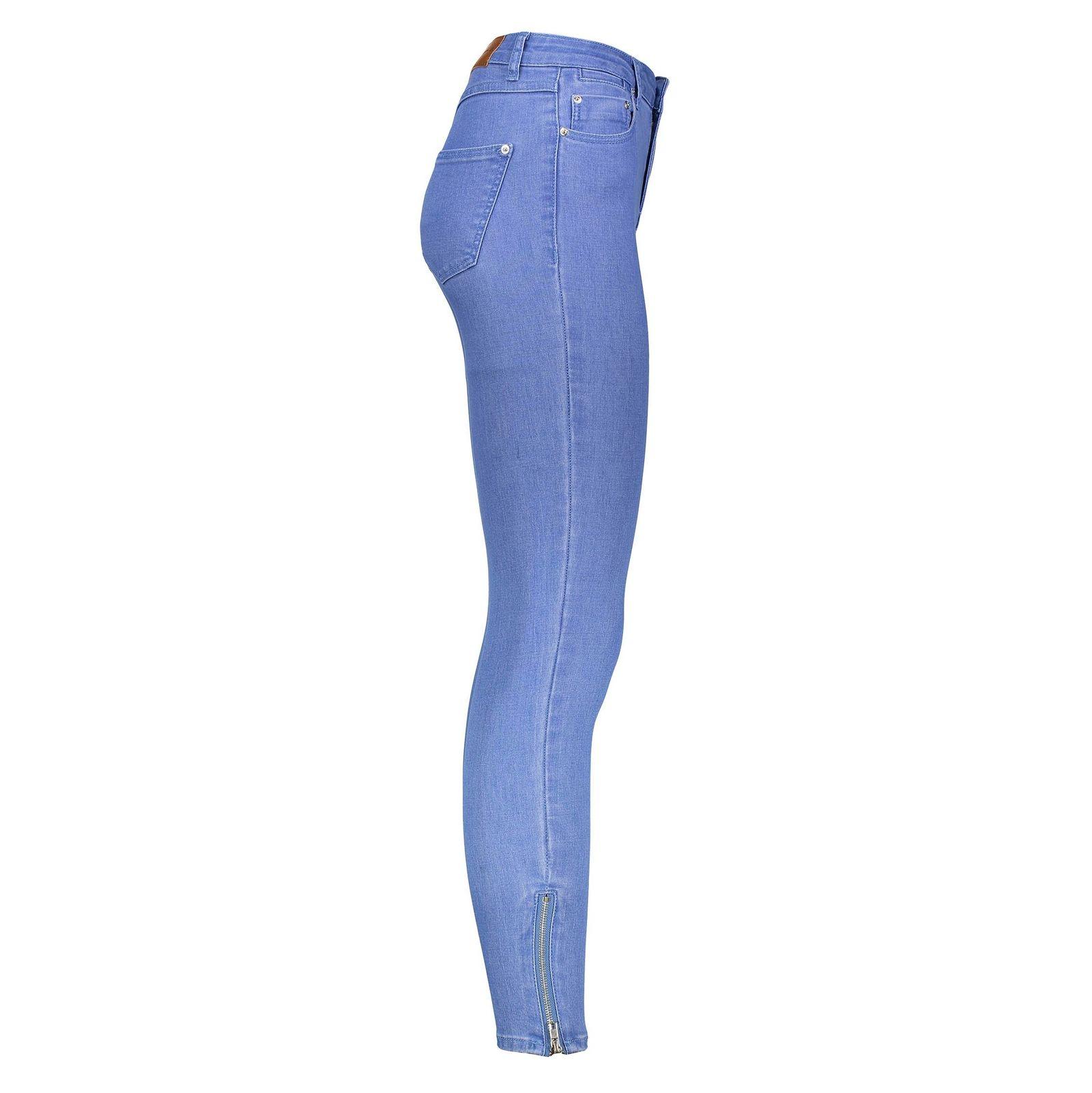 شلوار جین جذب زنانه - جنیفر - آبي - 3