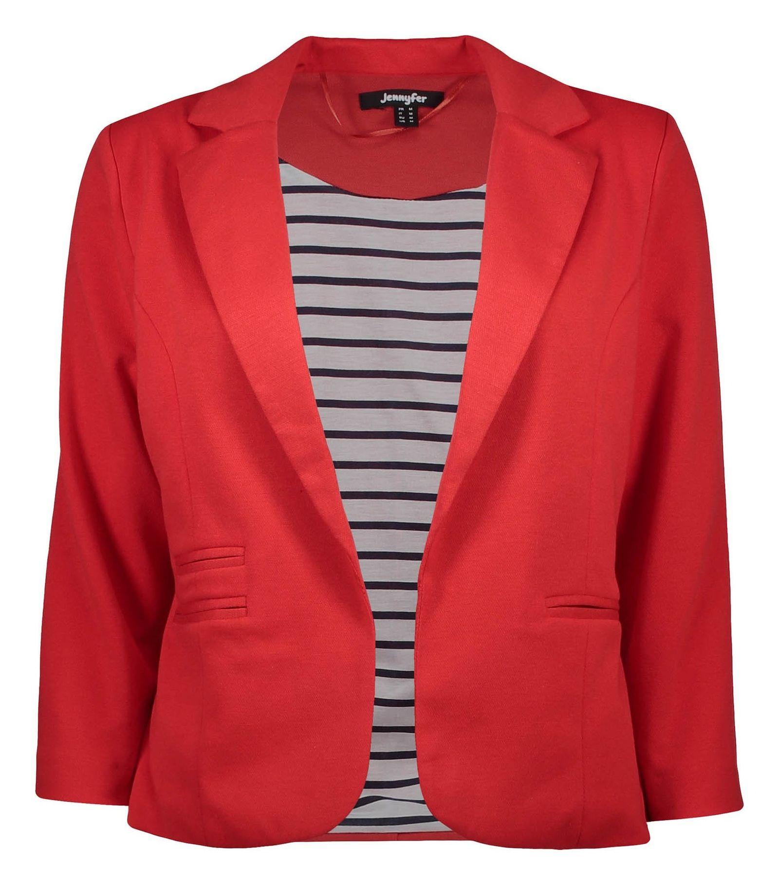 کت کوتاه زنانه - جنیفر - قرمز - 1