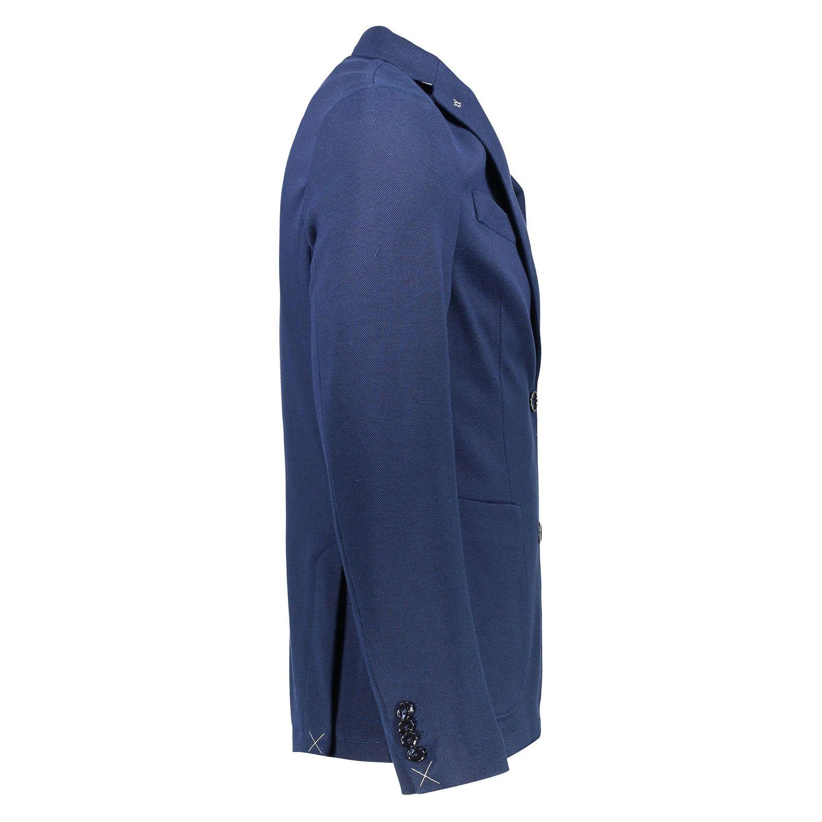 کت تک غیر رسمی نخی مردانه - مانگو - سرمه اي - 3