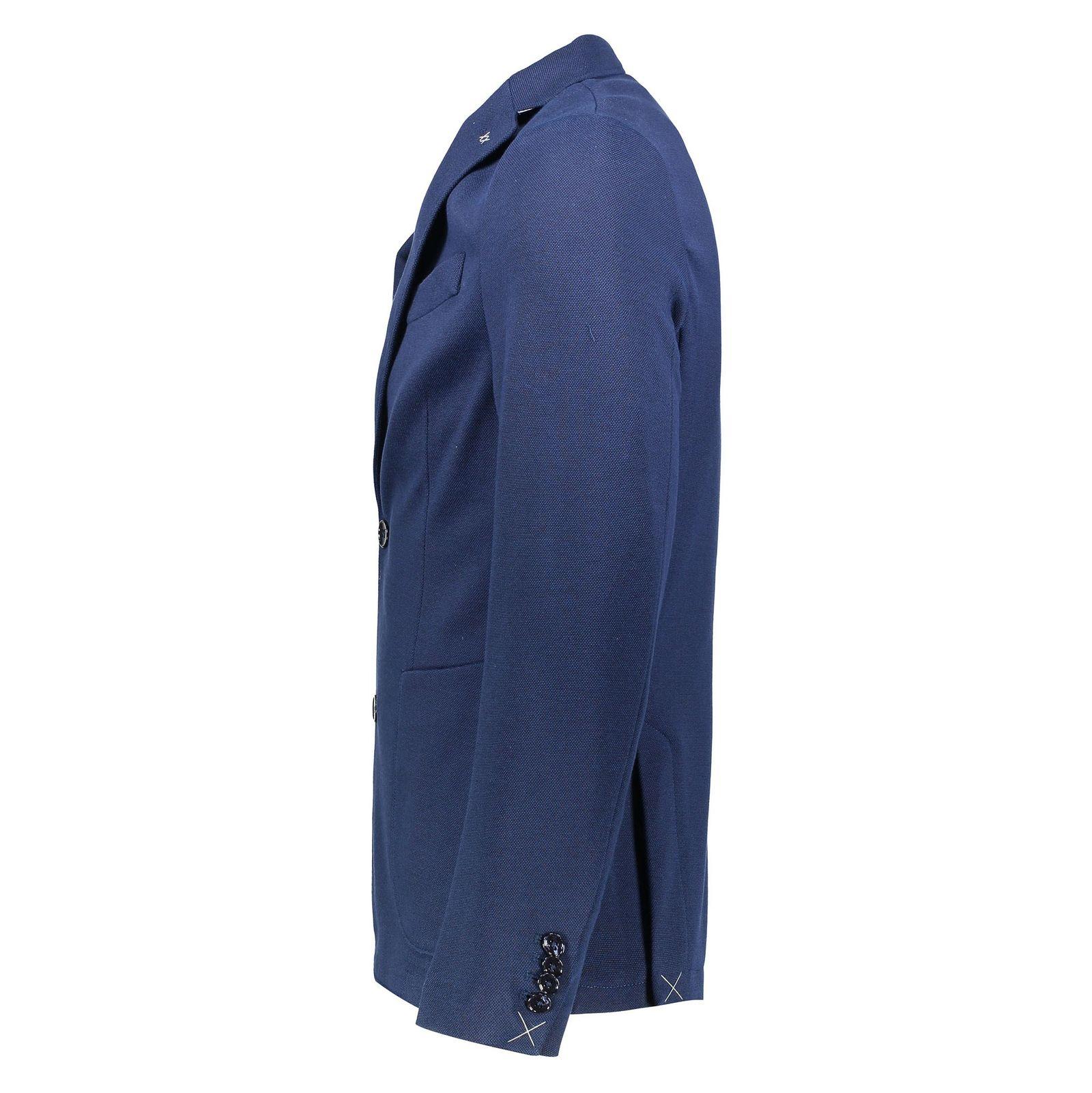 کت تک غیر رسمی نخی مردانه - مانگو - سرمه اي - 4