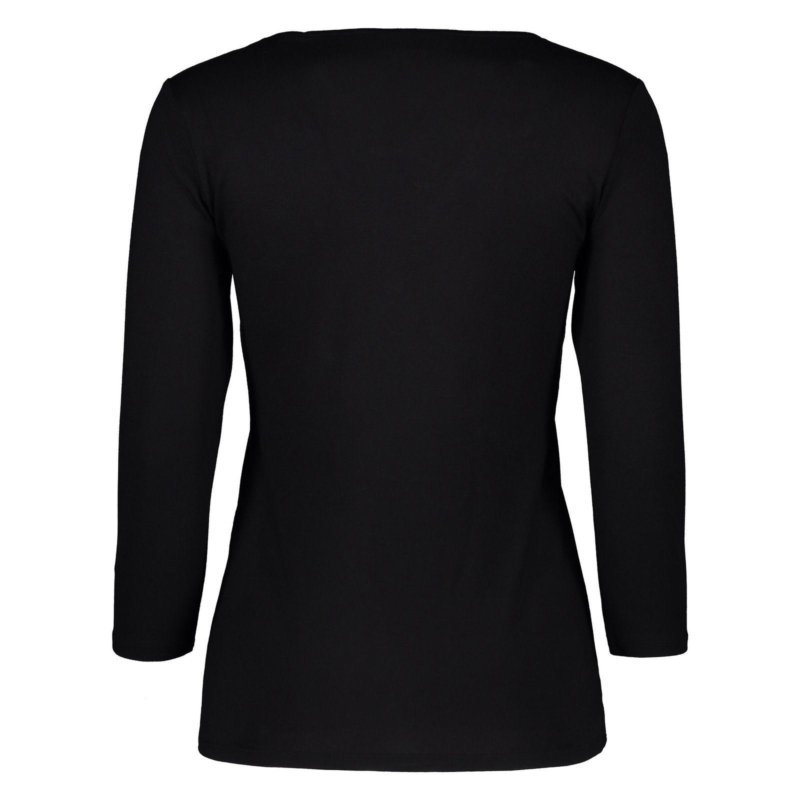 تی شرت ویسکوز یقه هفت زنانه - اس.اولیور - مشکي - 2