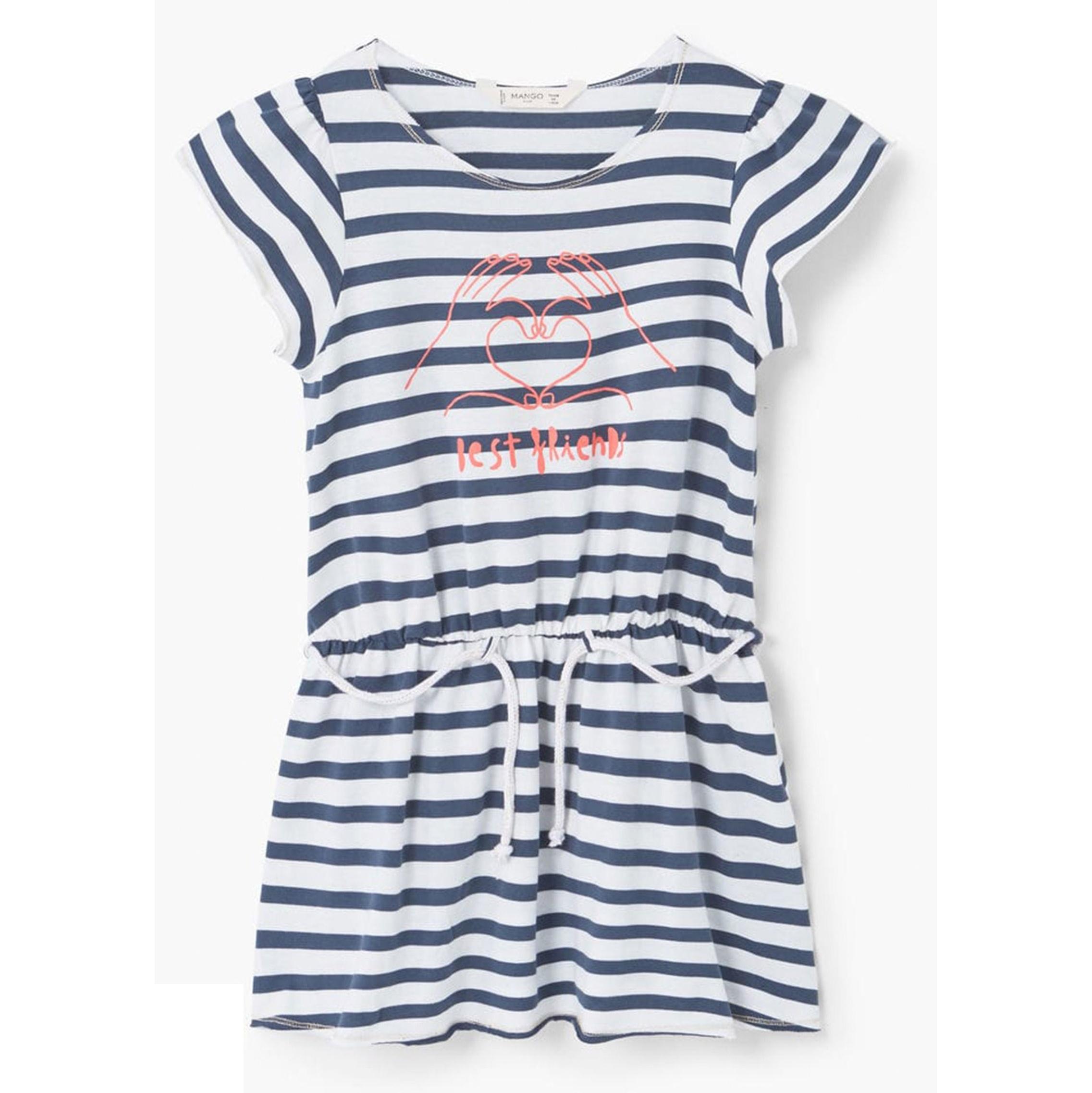 پیراهن نخی کوتاه دخترانه - مانگو -  - 1