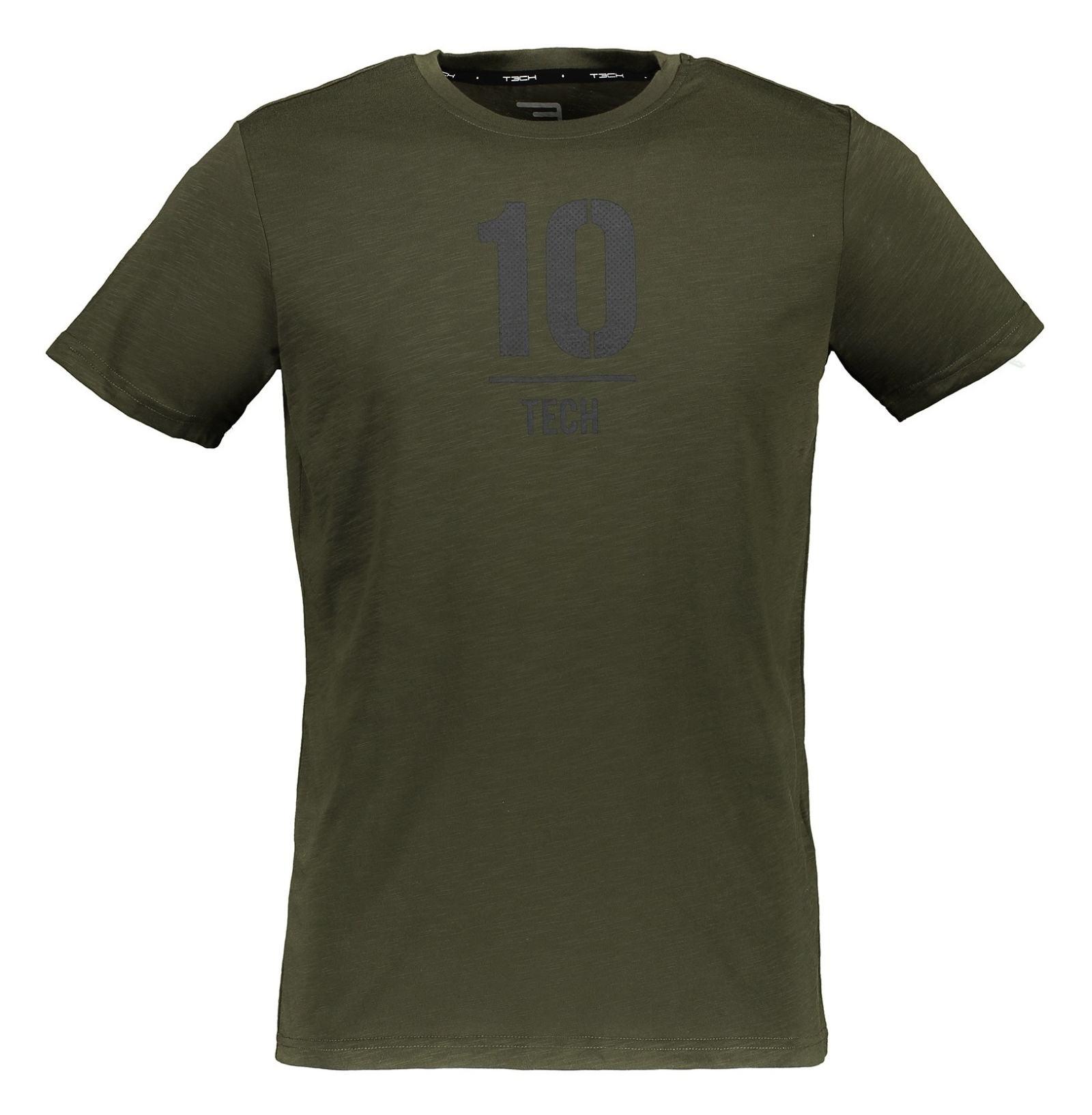 تی شرت ورزشی یقه گرد مردانه - جک اند جونز - زيتوني - 1