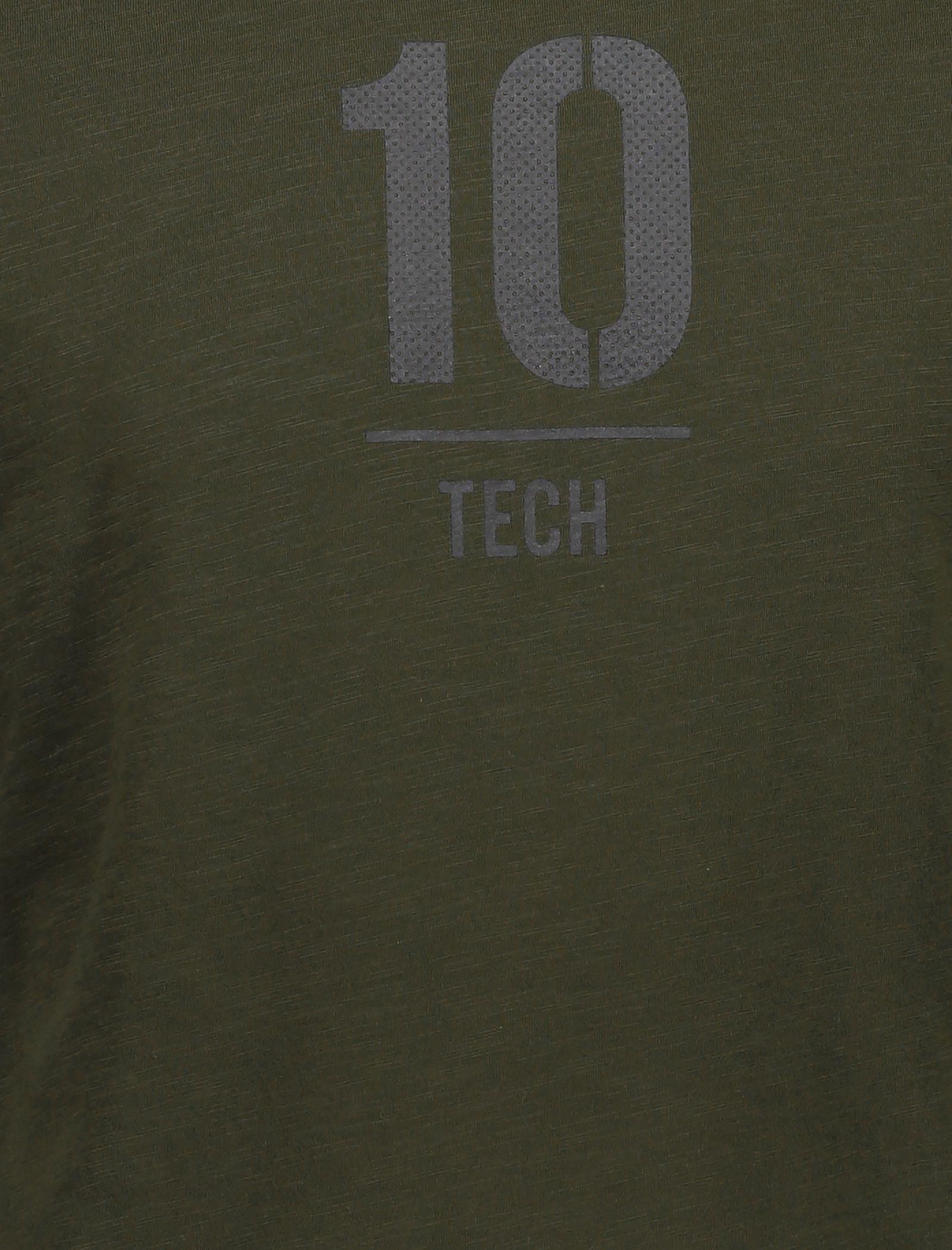 تی شرت ورزشی یقه گرد مردانه - جک اند جونز - زيتوني - 4