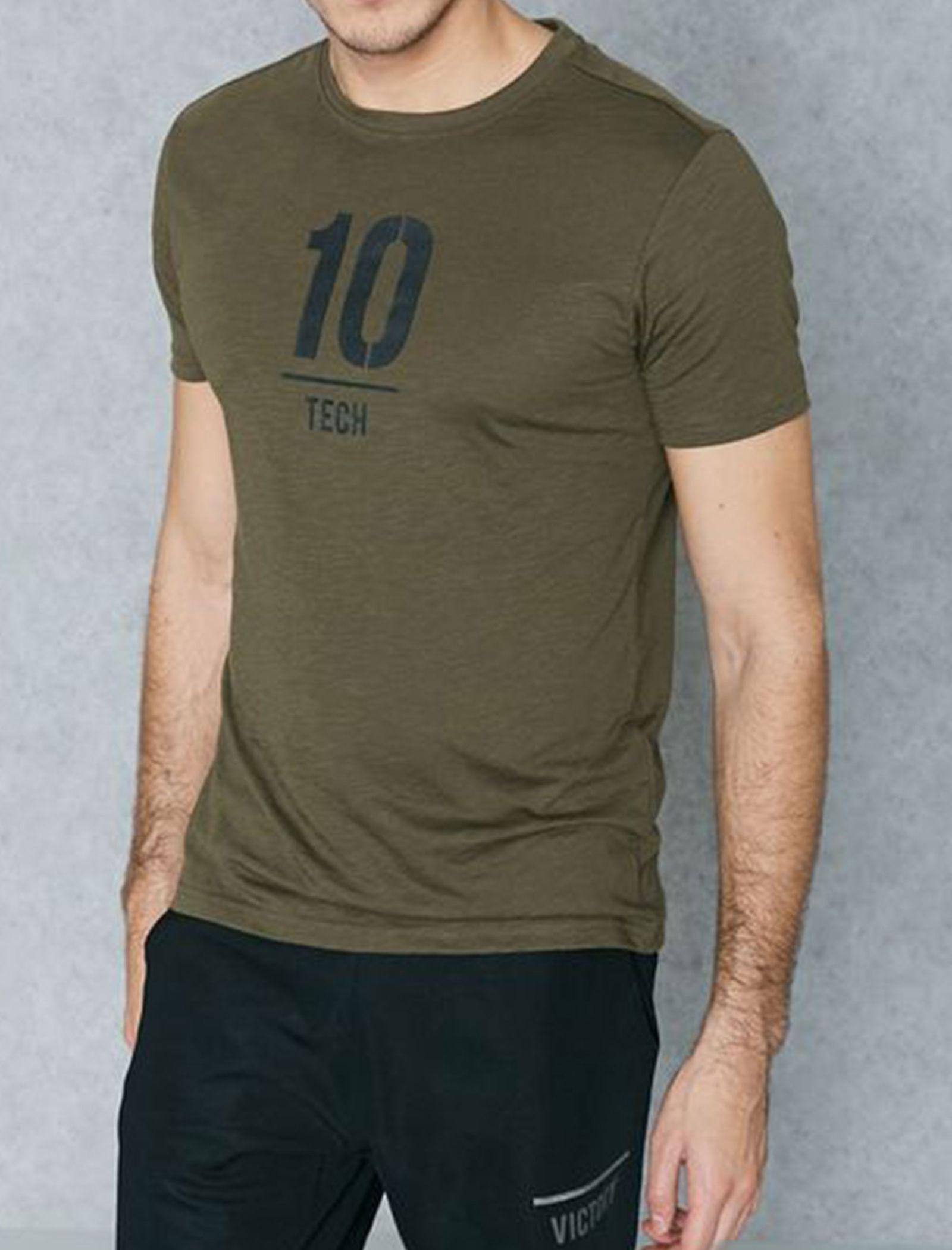 تی شرت ورزشی یقه گرد مردانه - جک اند جونز - زيتوني - 5