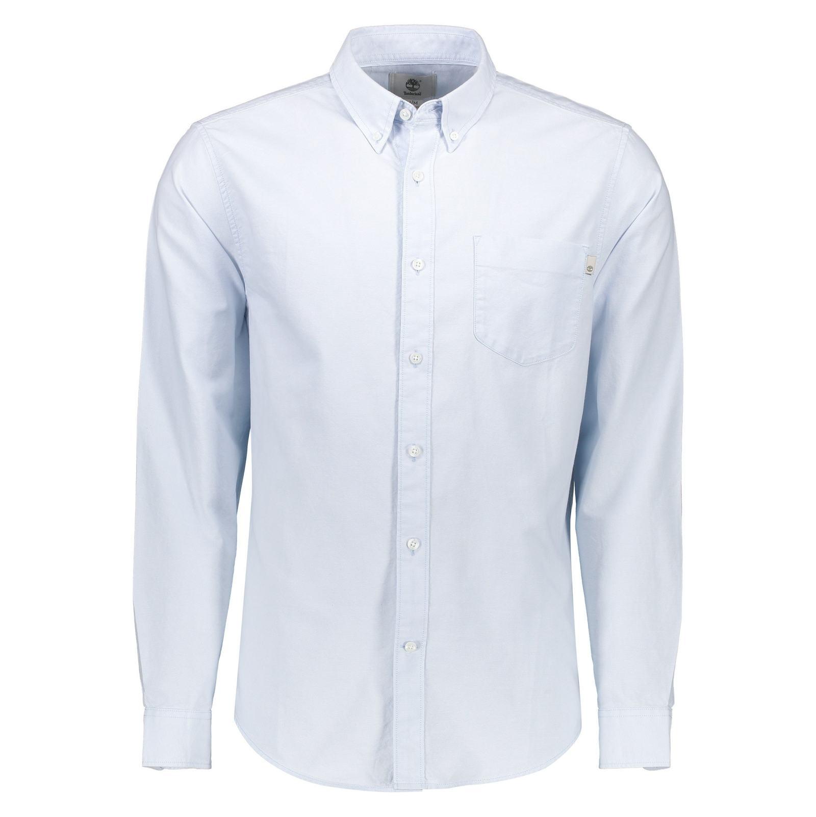 پیراهن نخی آستین بلند مردانه - تیمبرلند - آبي آسماني - 1