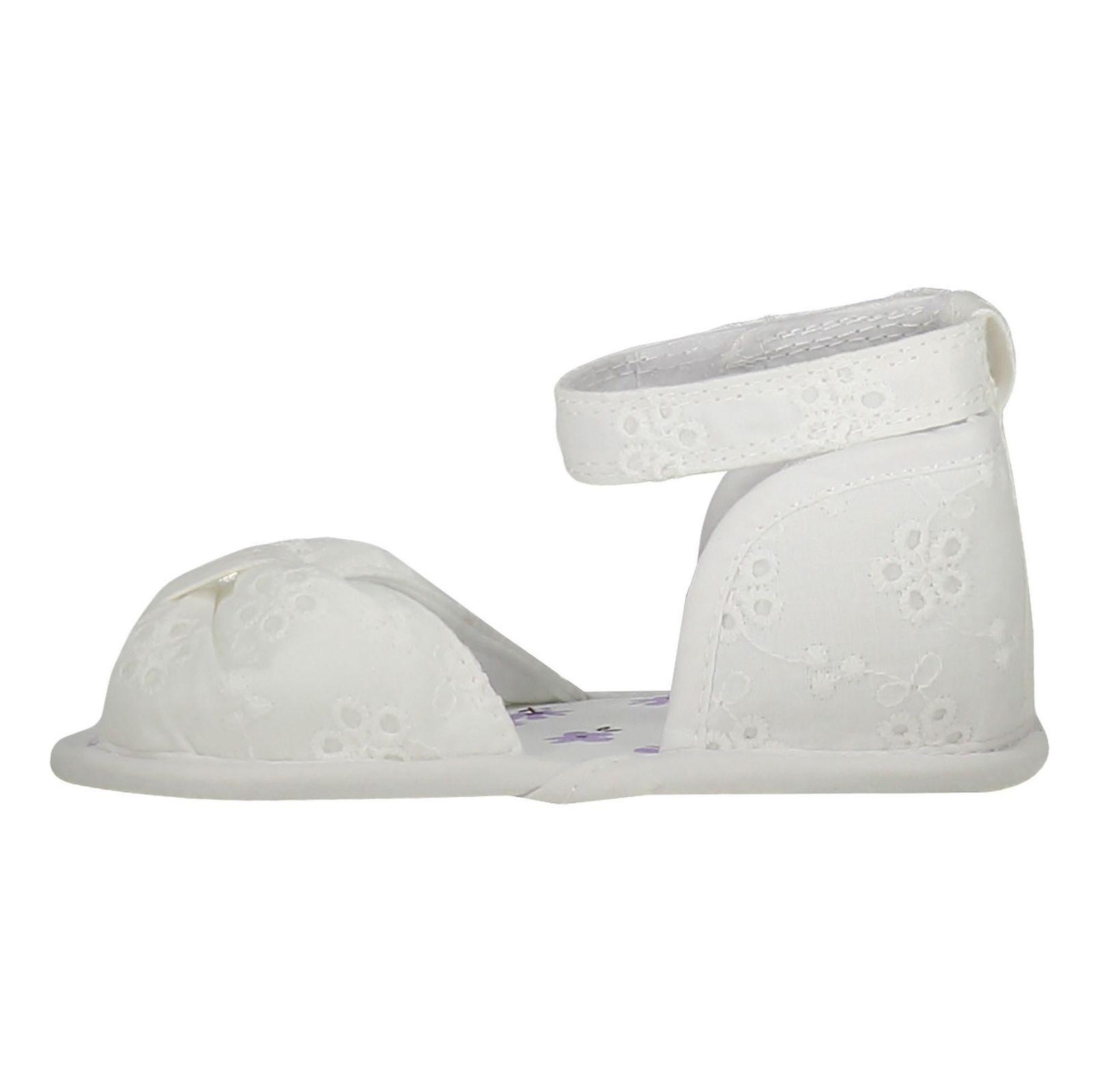 کفش پارچه ای نوزادی دخترانه - بلوزو - سفيد - 3
