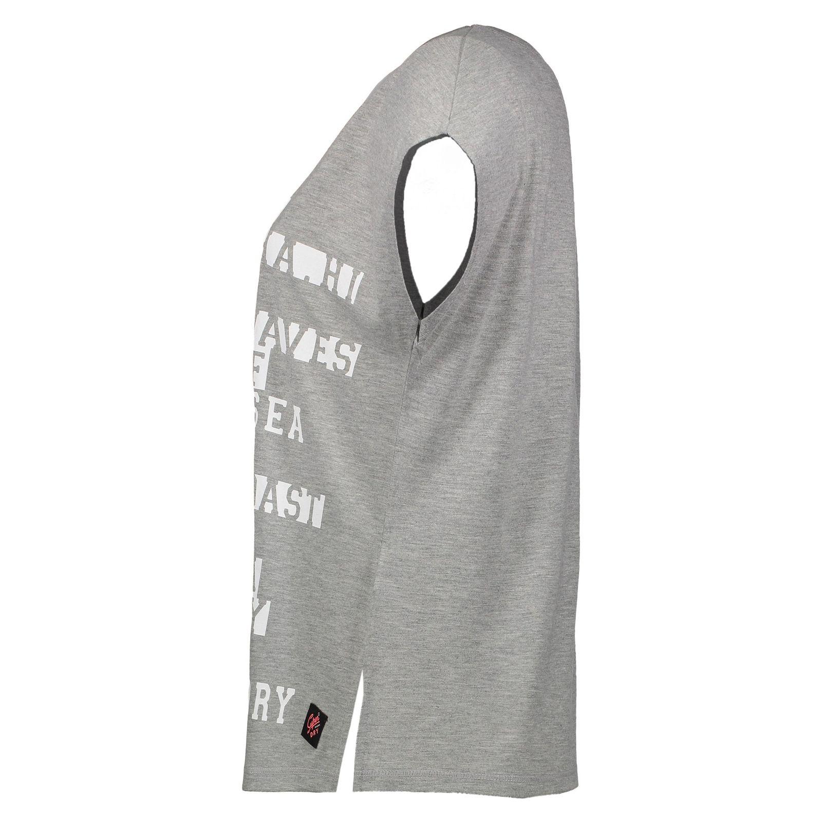تی شرت یقه گرد زنانه Boxy Text - سوپردرای - طوسي روشن - 3