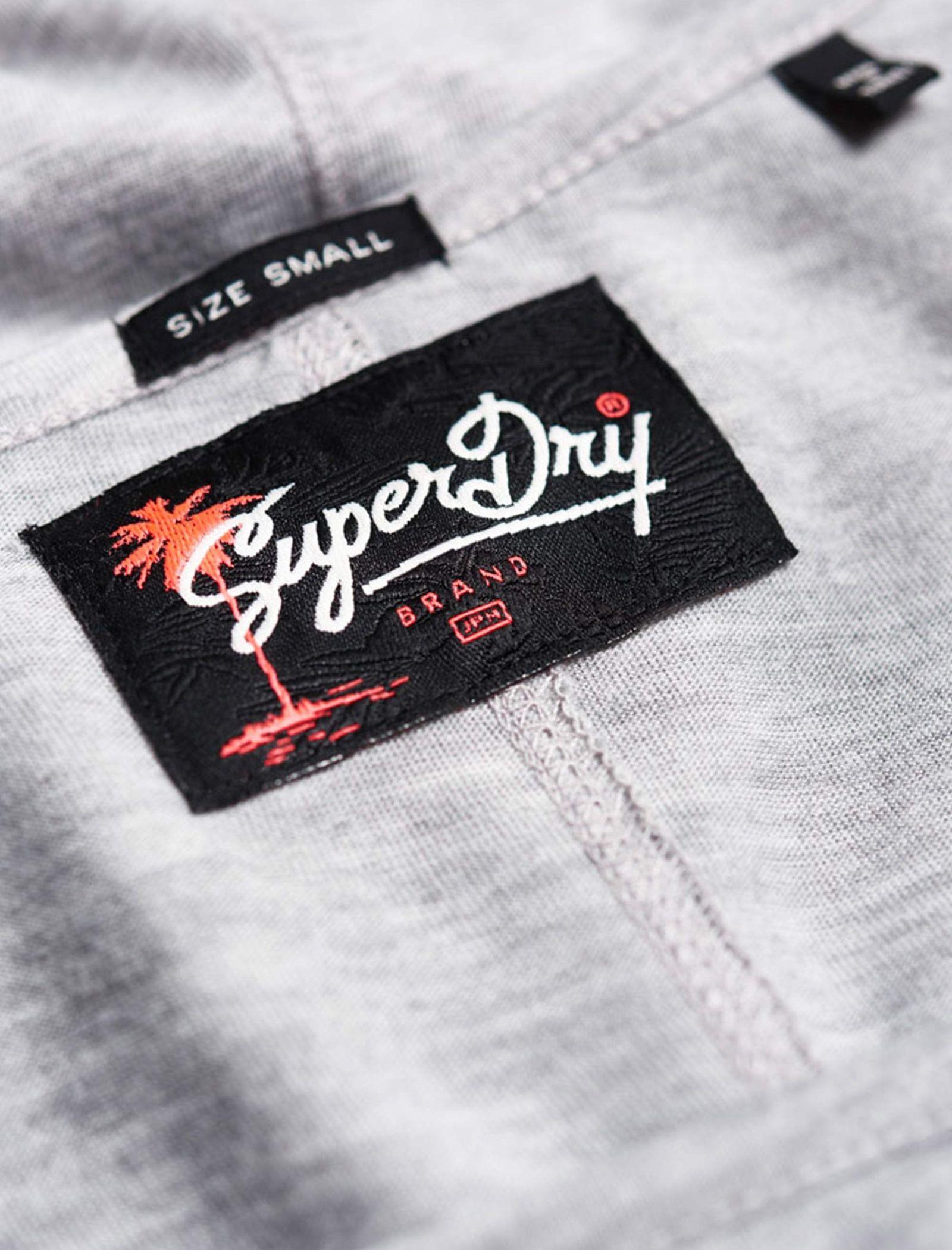 تی شرت یقه گرد زنانه Boxy Text - سوپردرای - طوسي روشن - 5