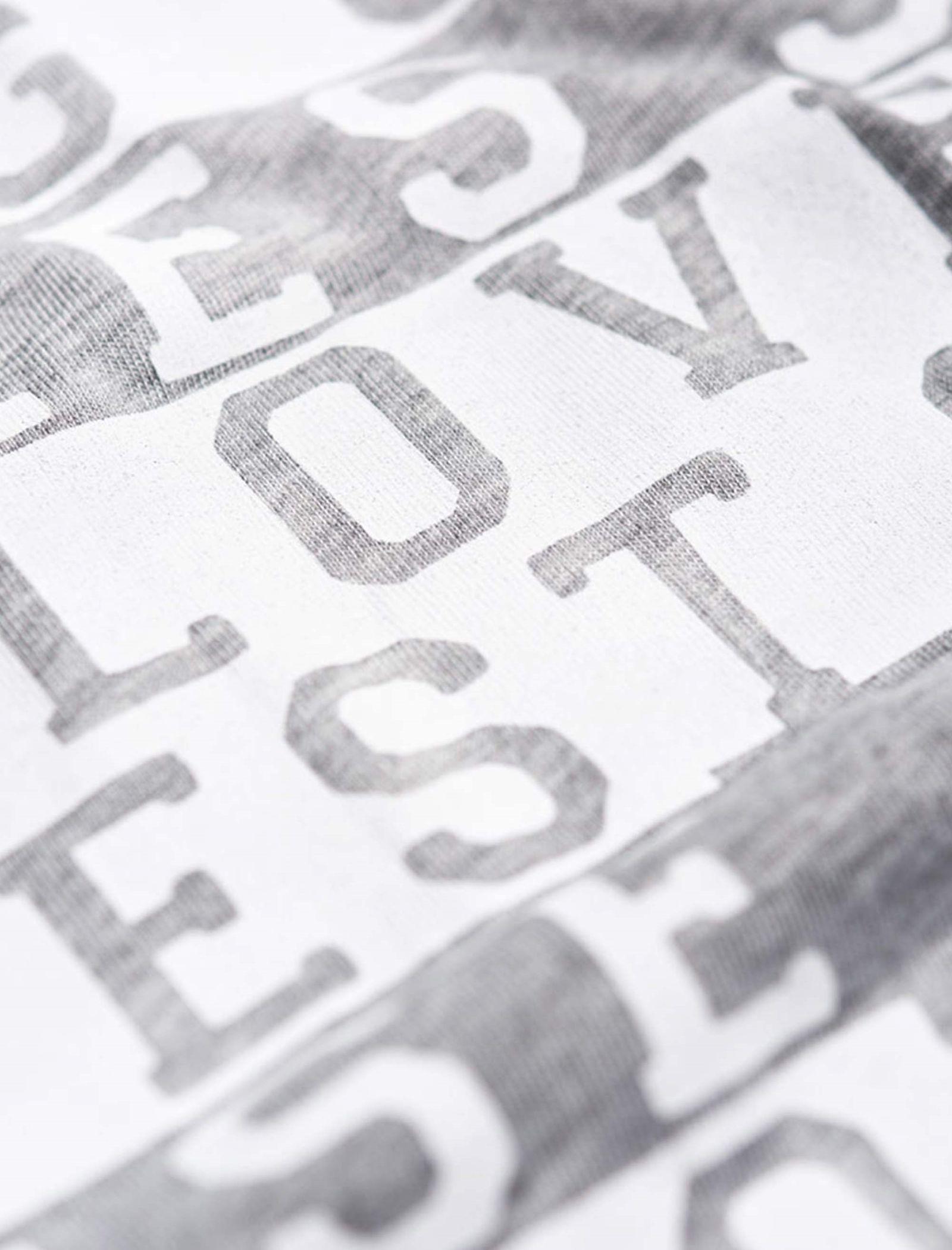 تی شرت یقه گرد زنانه Boxy Text - سوپردرای - طوسي روشن - 6