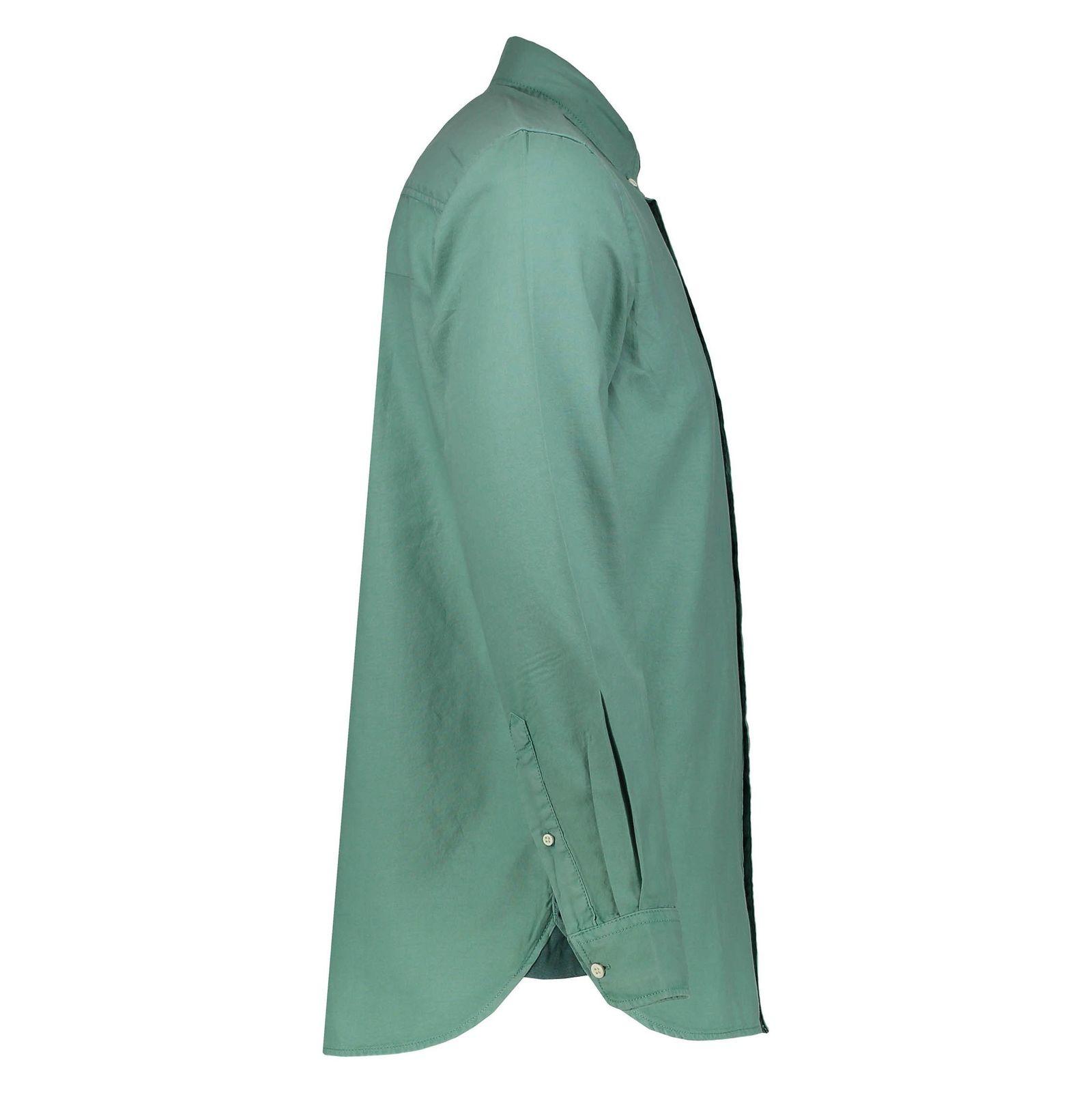 پیراهن نخی آستین بلند مردانه - اس.اولیور - سبز - 3
