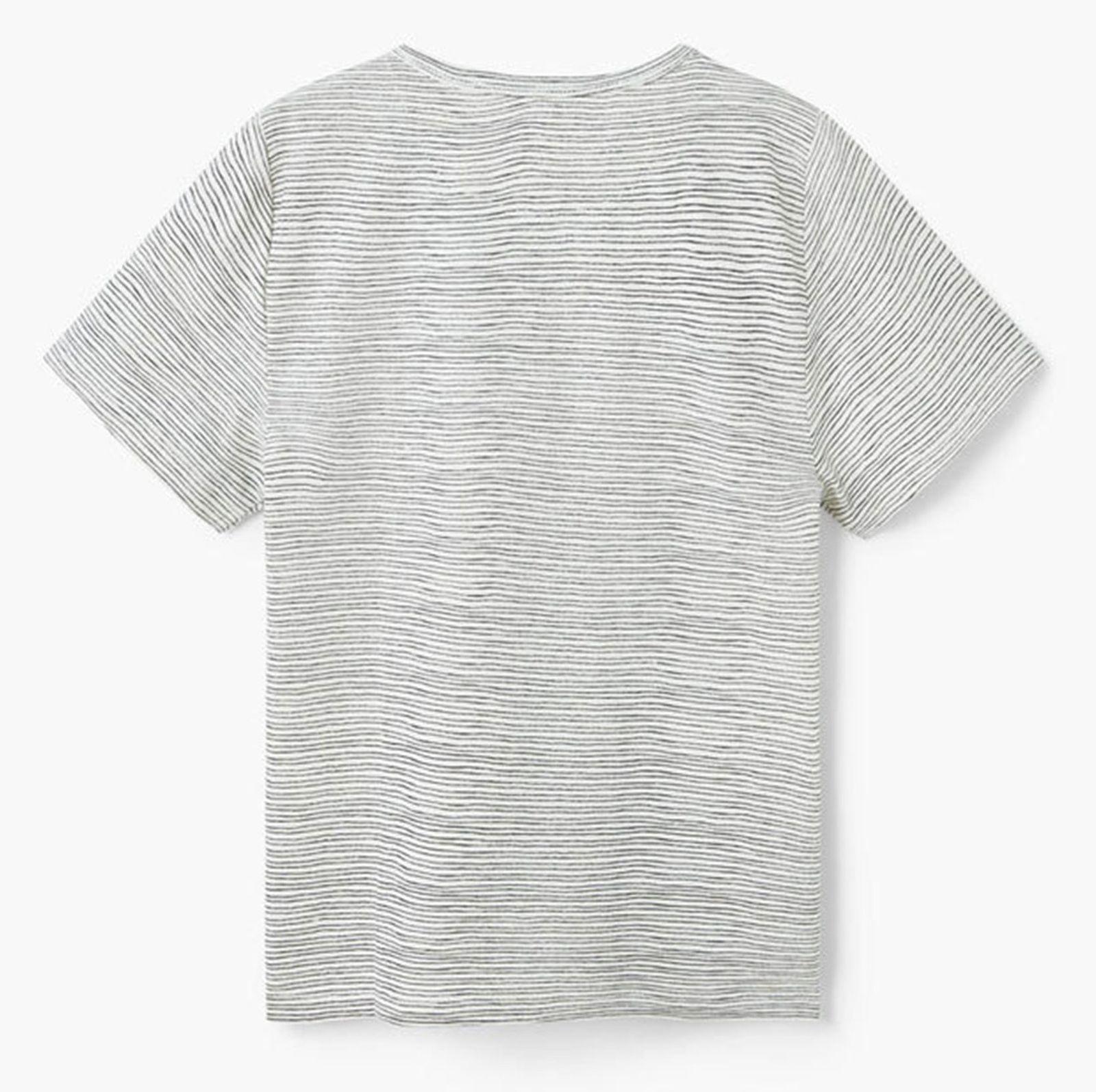 تی شرت نخی یقه گرد پسرانه - مانگو - راه راه - 1