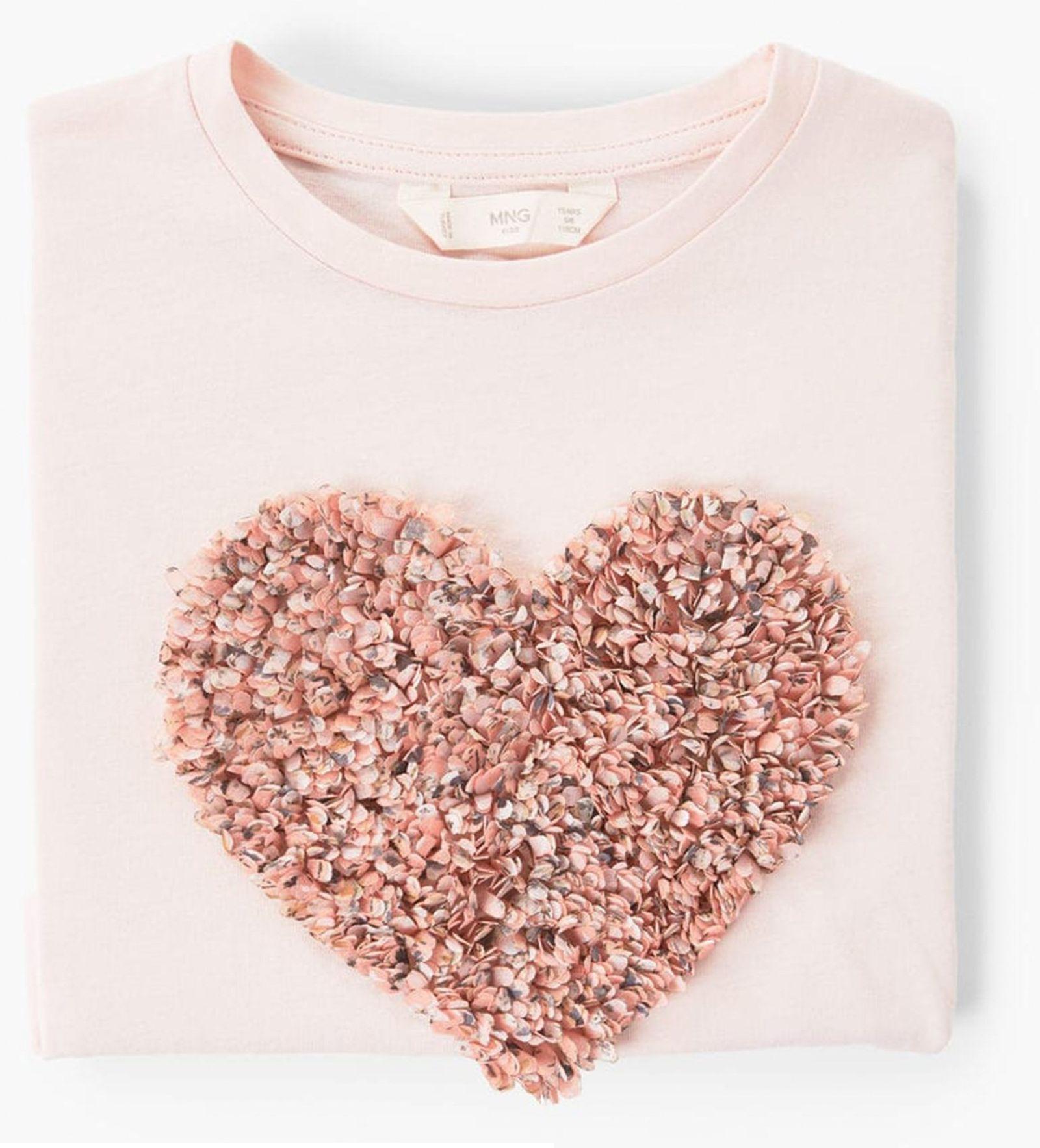 تی شرت نخی آستین بلند دخترانه - مانگو - صورتي - 3
