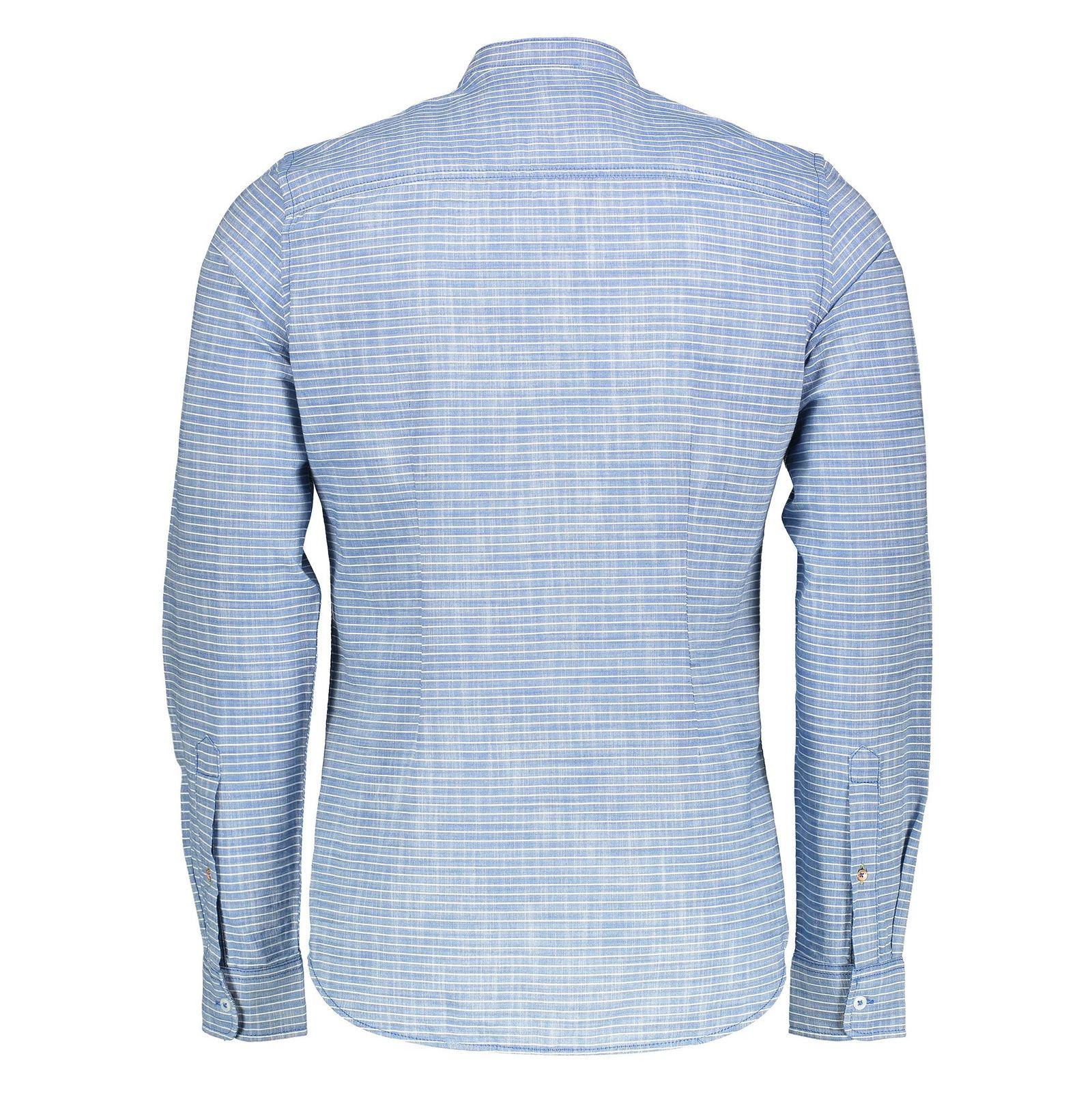 پیراهن نخی آستین بلند مردانه - اس.اولیور - آبي  - 2
