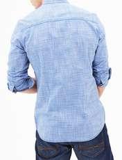 پیراهن نخی آستین بلند مردانه - اس.اولیور - آبي  - 5