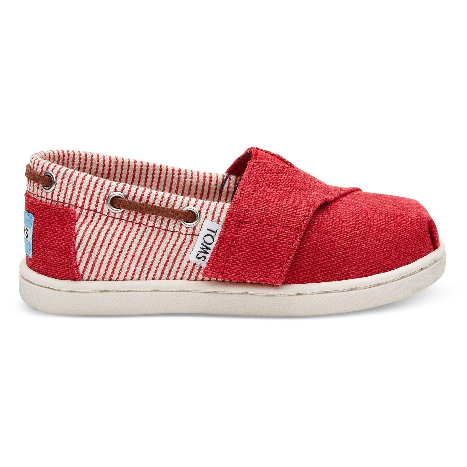 کفش راحتی پارچه ای بچه گانه - تامز - قرمز - 1