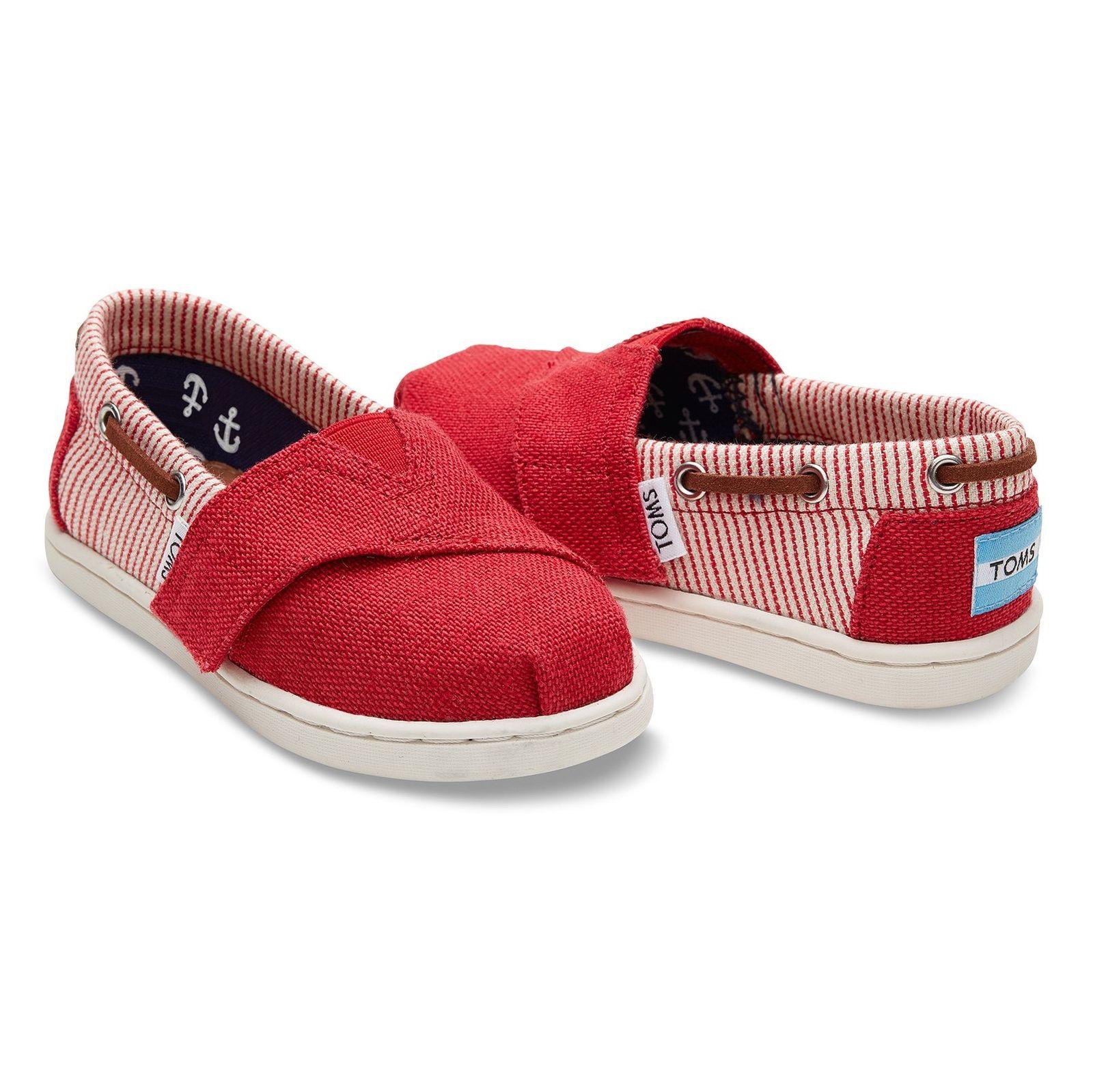 کفش راحتی پارچه ای بچه گانه - تامز - قرمز - 3