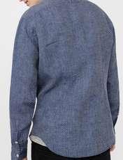 پیراهن آستین بلند مردانه - مانگو - سرمه اي - 3